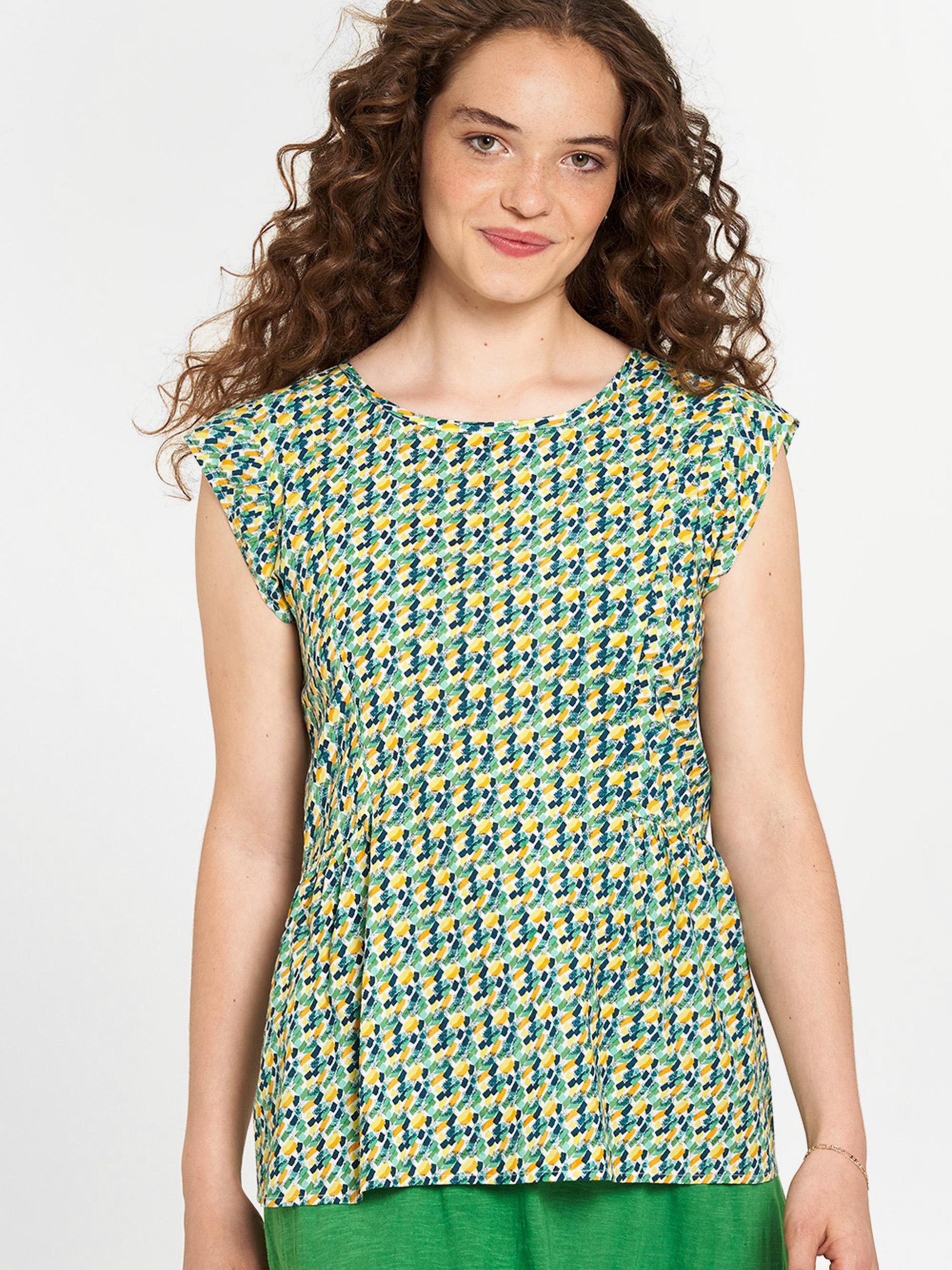 Tranquillo зелена блуза с шарка