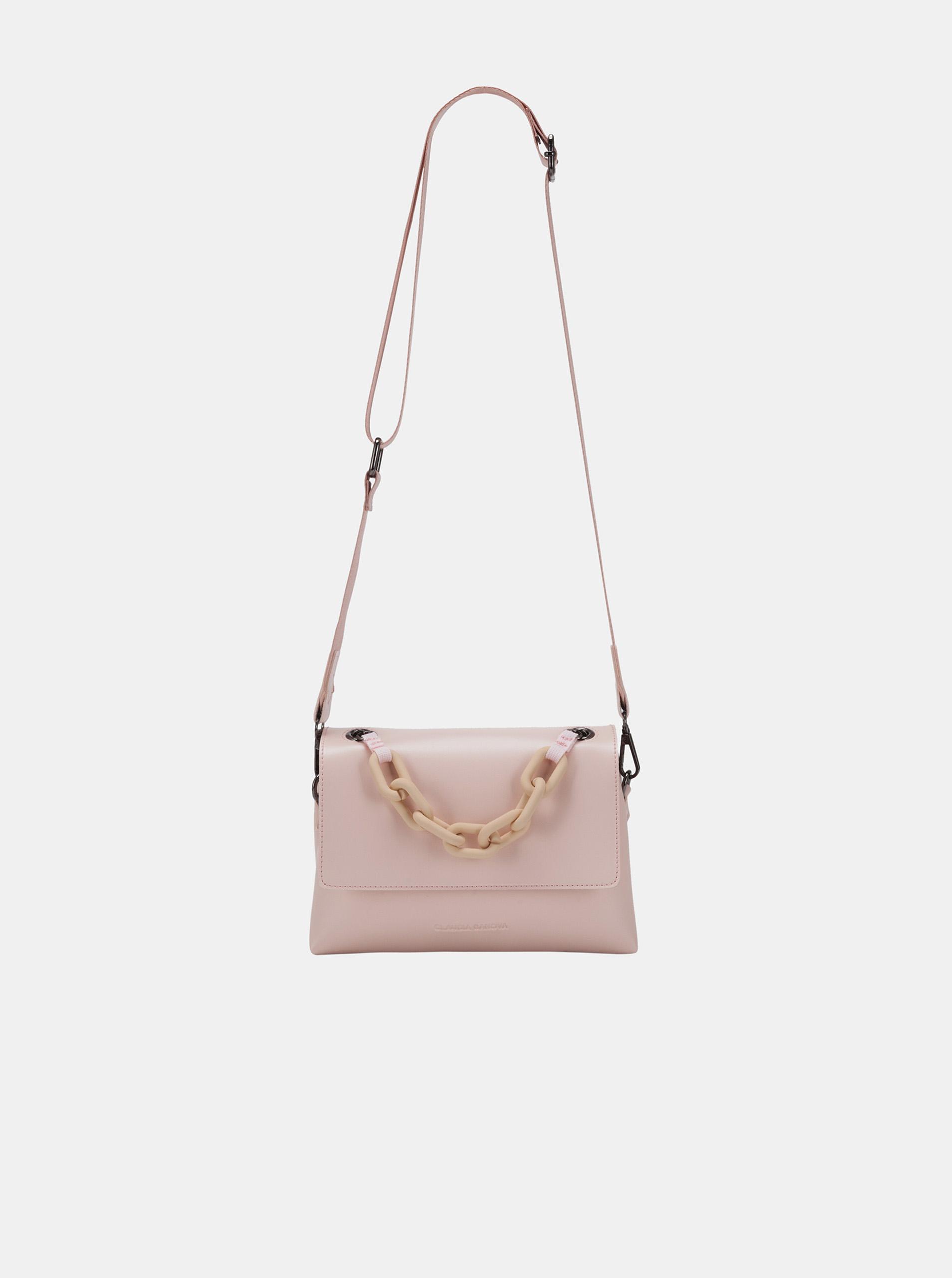 Claudia Canova розова crossbody дамска чанта