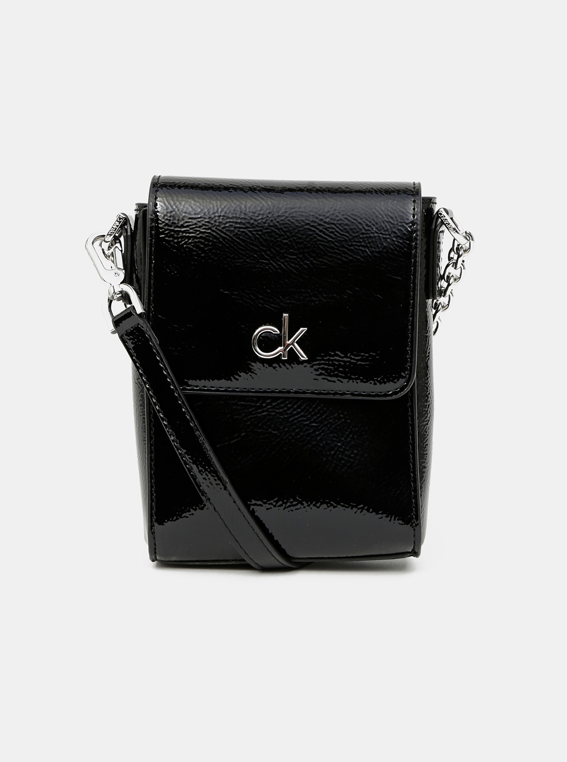 Calvin Klein черна crossbody малка дамска чанта