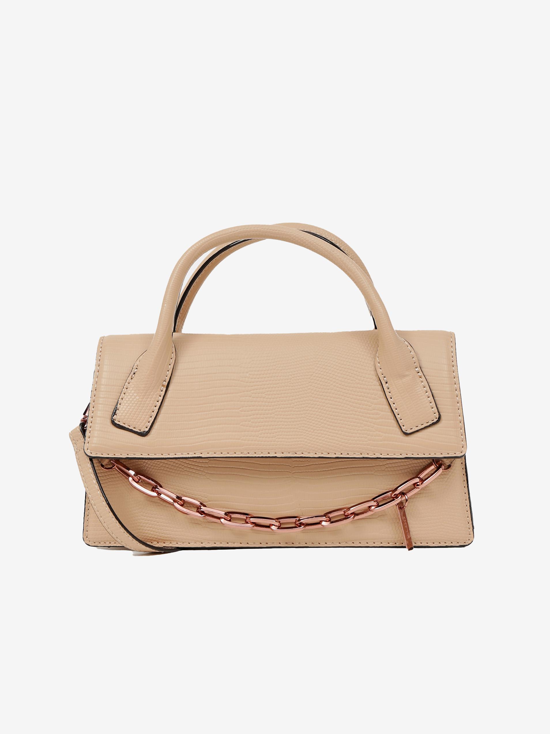 Бежова чанта с декоративна верижка ALDO Buria