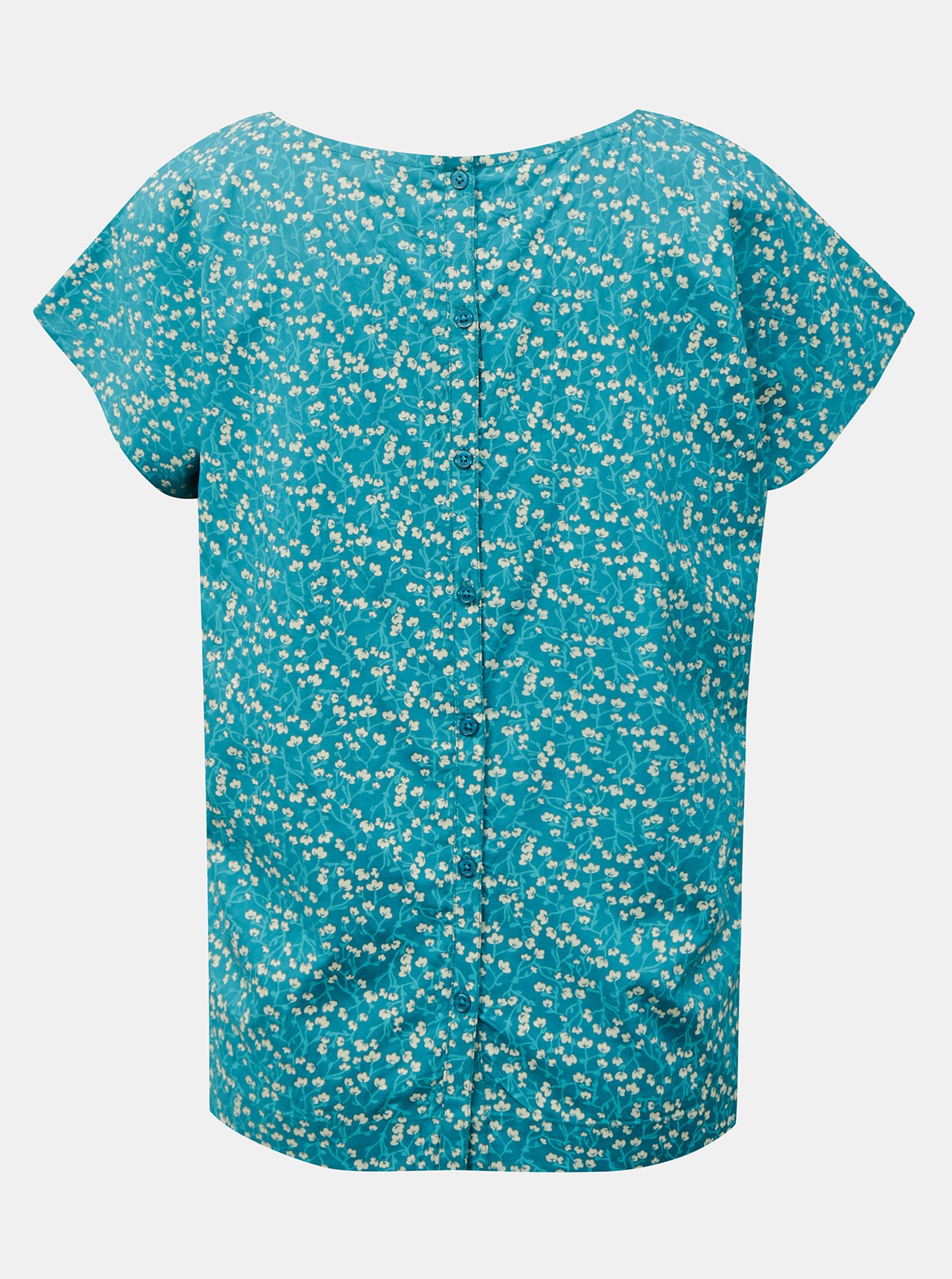 Tranquillo тюркоазена риза с флорален мотив