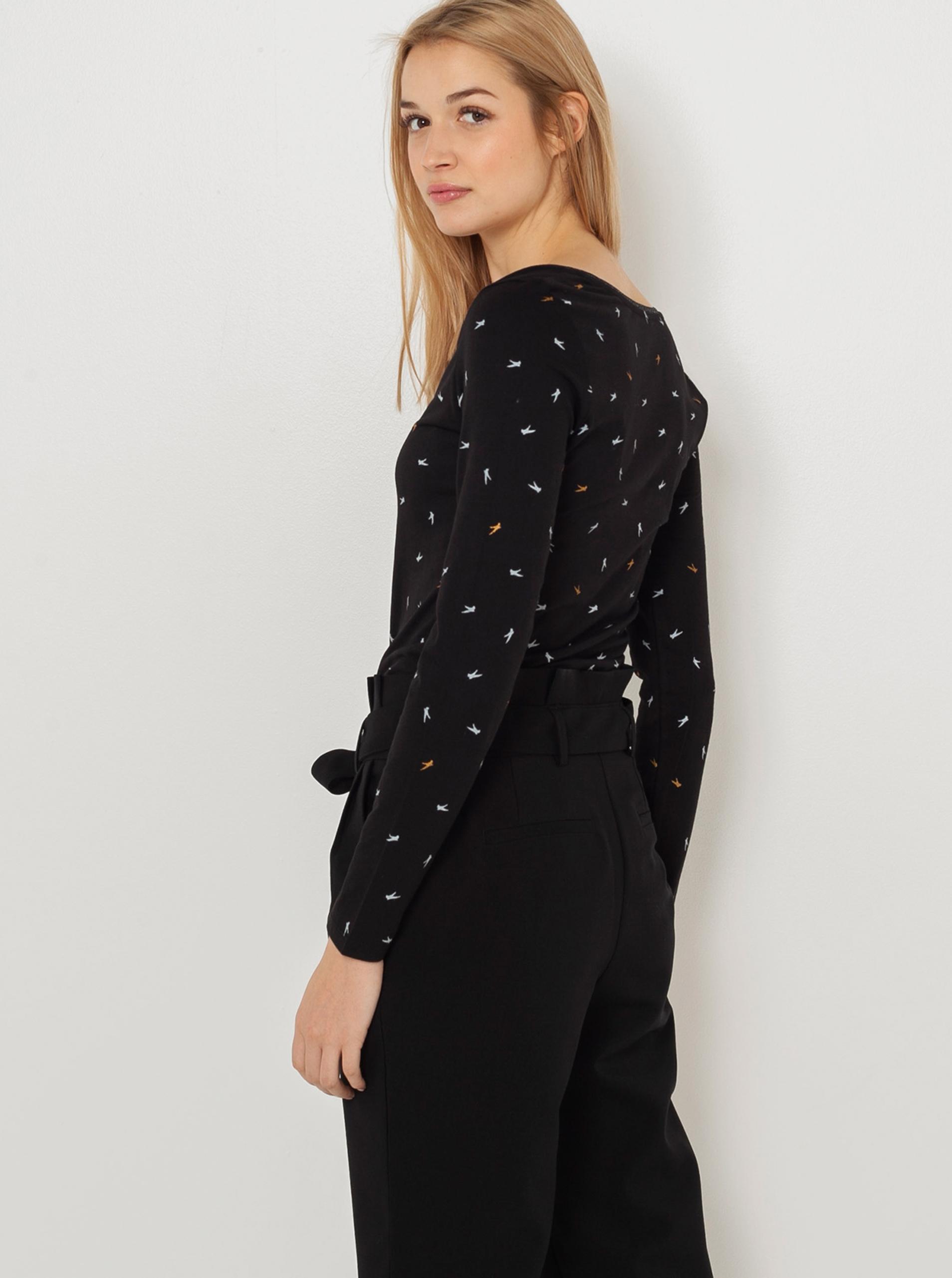 CAMAIEU черна риза с шарка