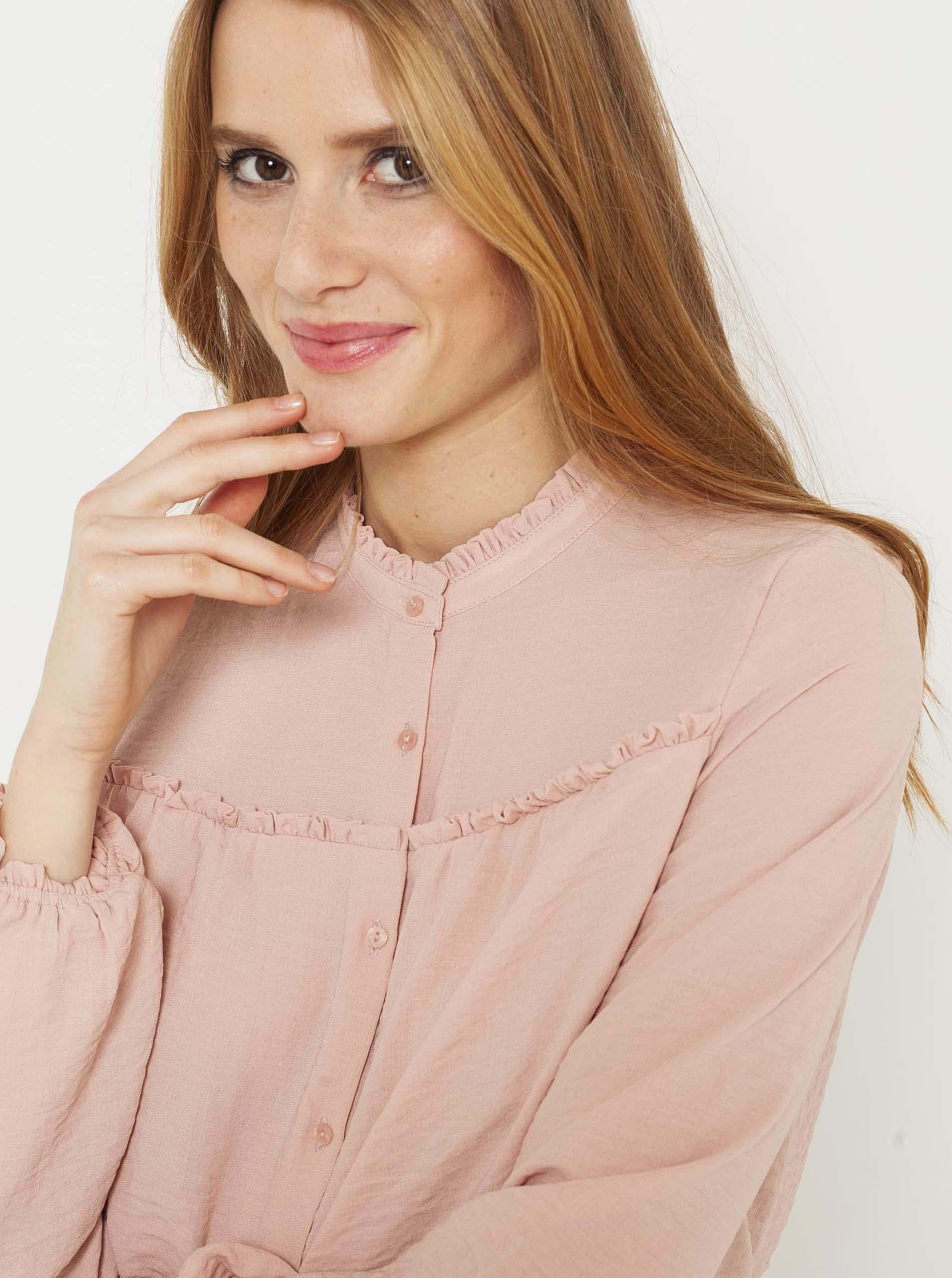 CAMAIEU розова блуза