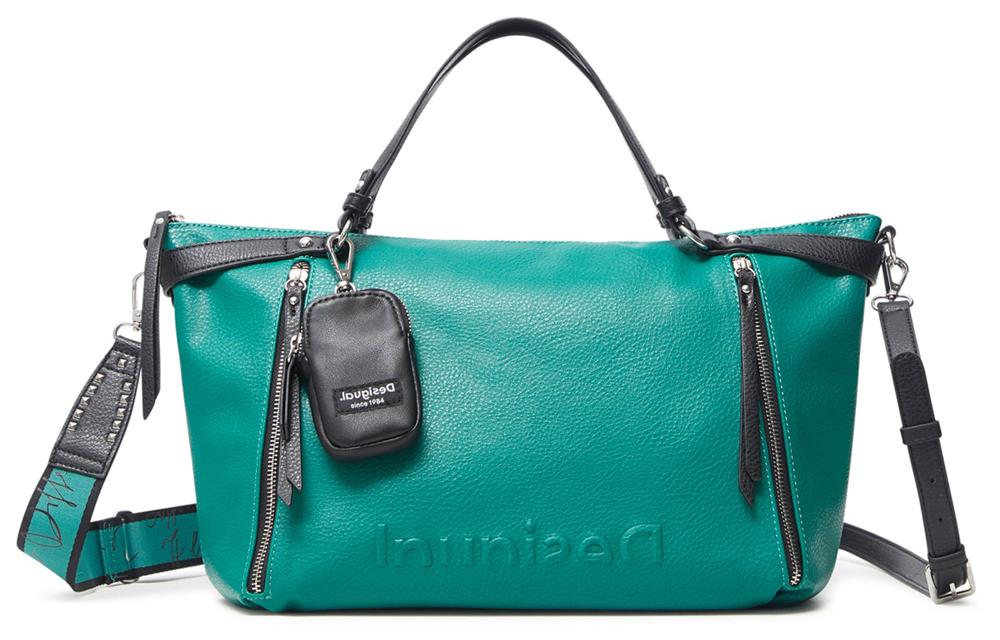 Desigual зелена дамска чанта Embossed Half Libia