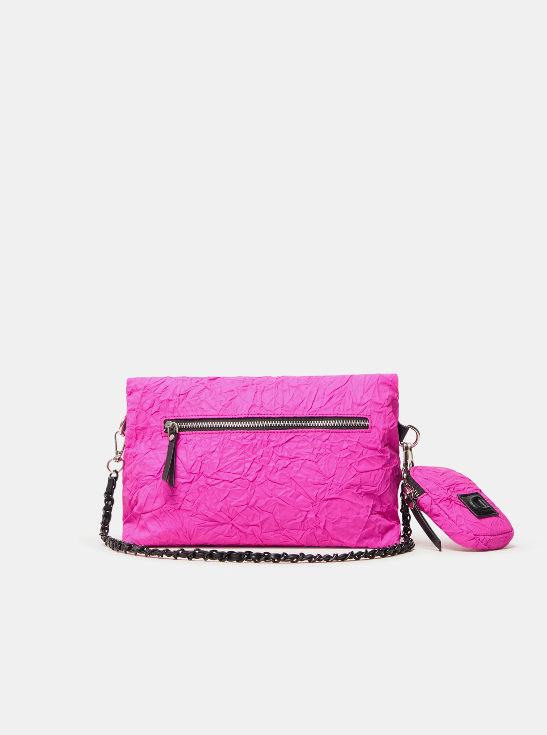 Desigual розова crossbody дамска чанта Crush Venecia