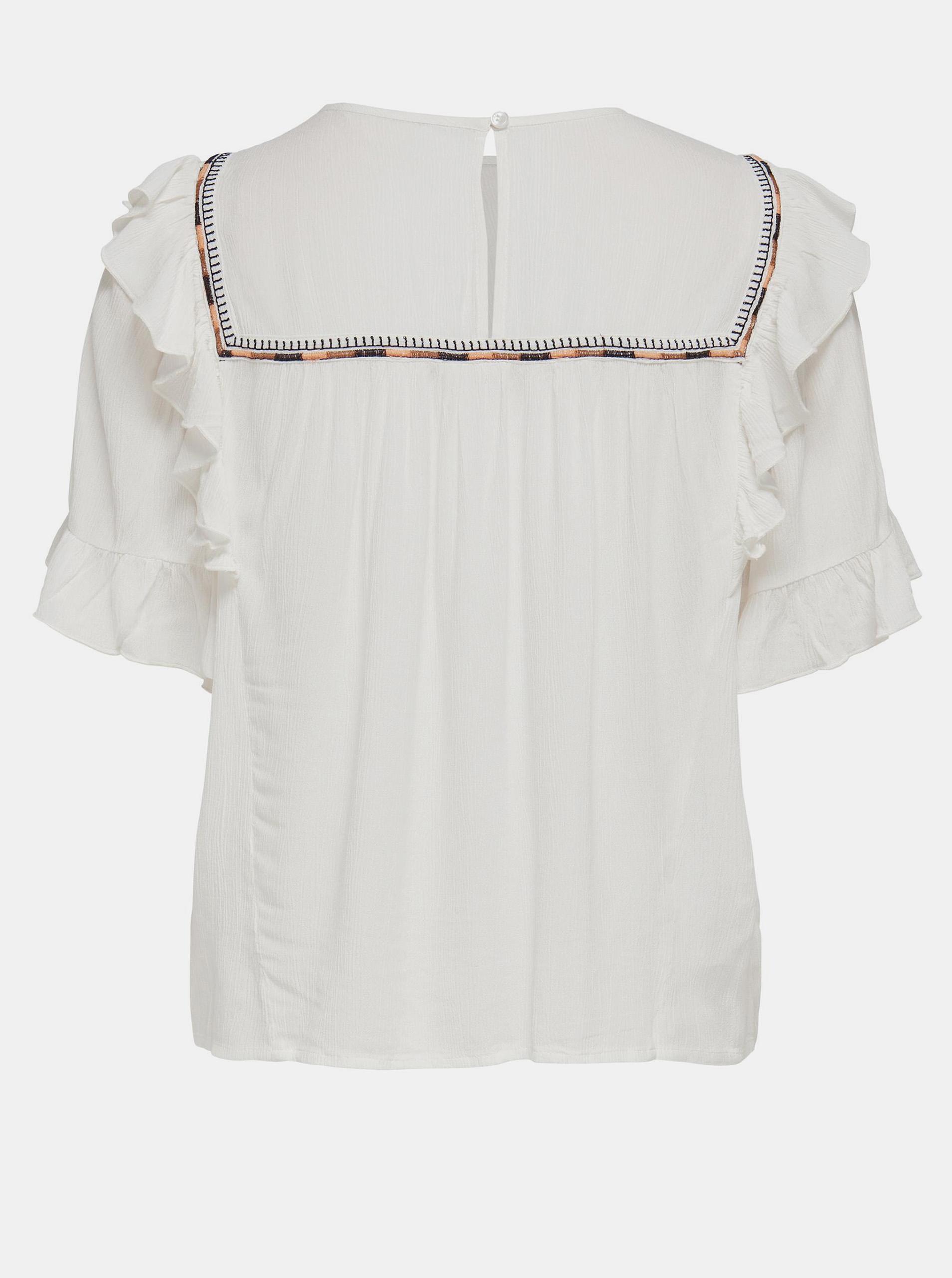 Only сметанова / кремова блуза Mynte