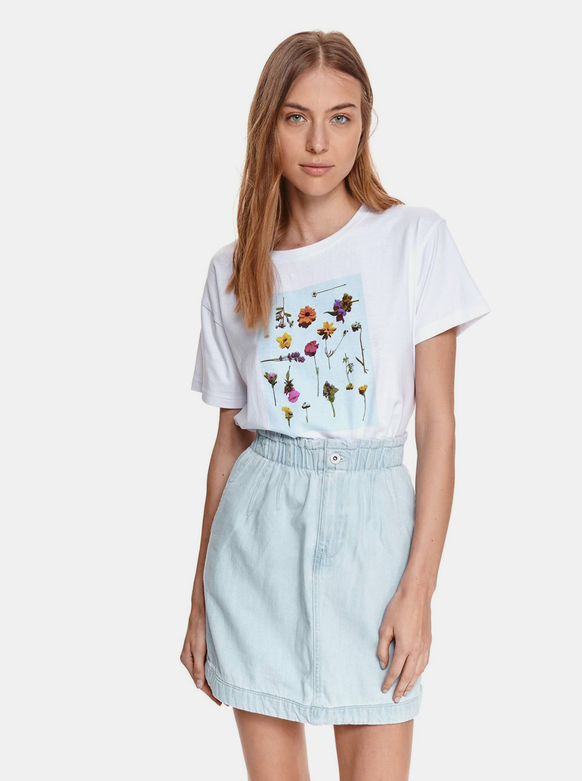 TOP SECRET бяла риза с щампа