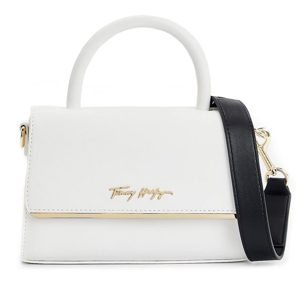 Tommy Hilfiger бяла crossbody малка дамска чанта
