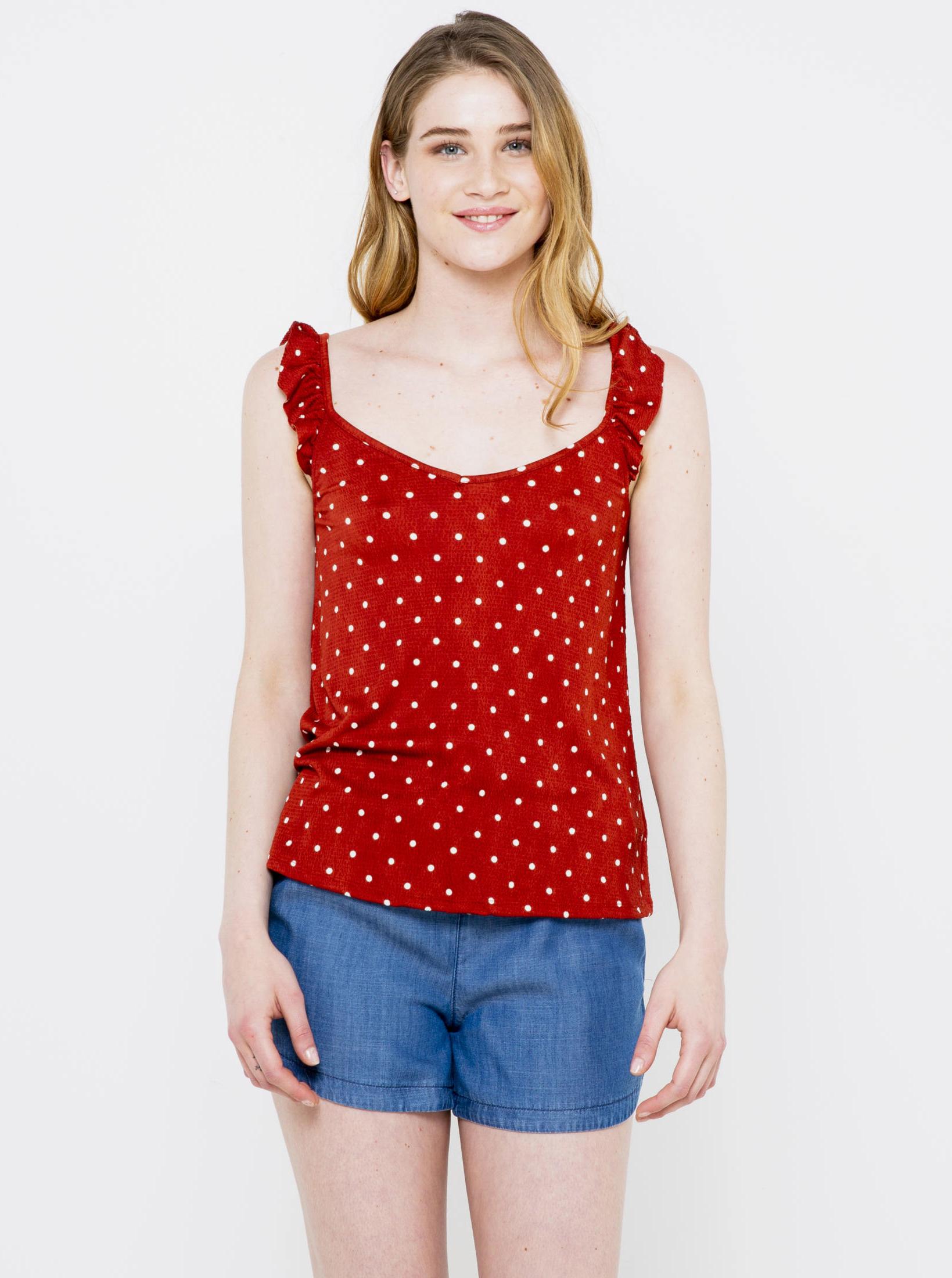 CAMAIEU Дамска блуза червено
