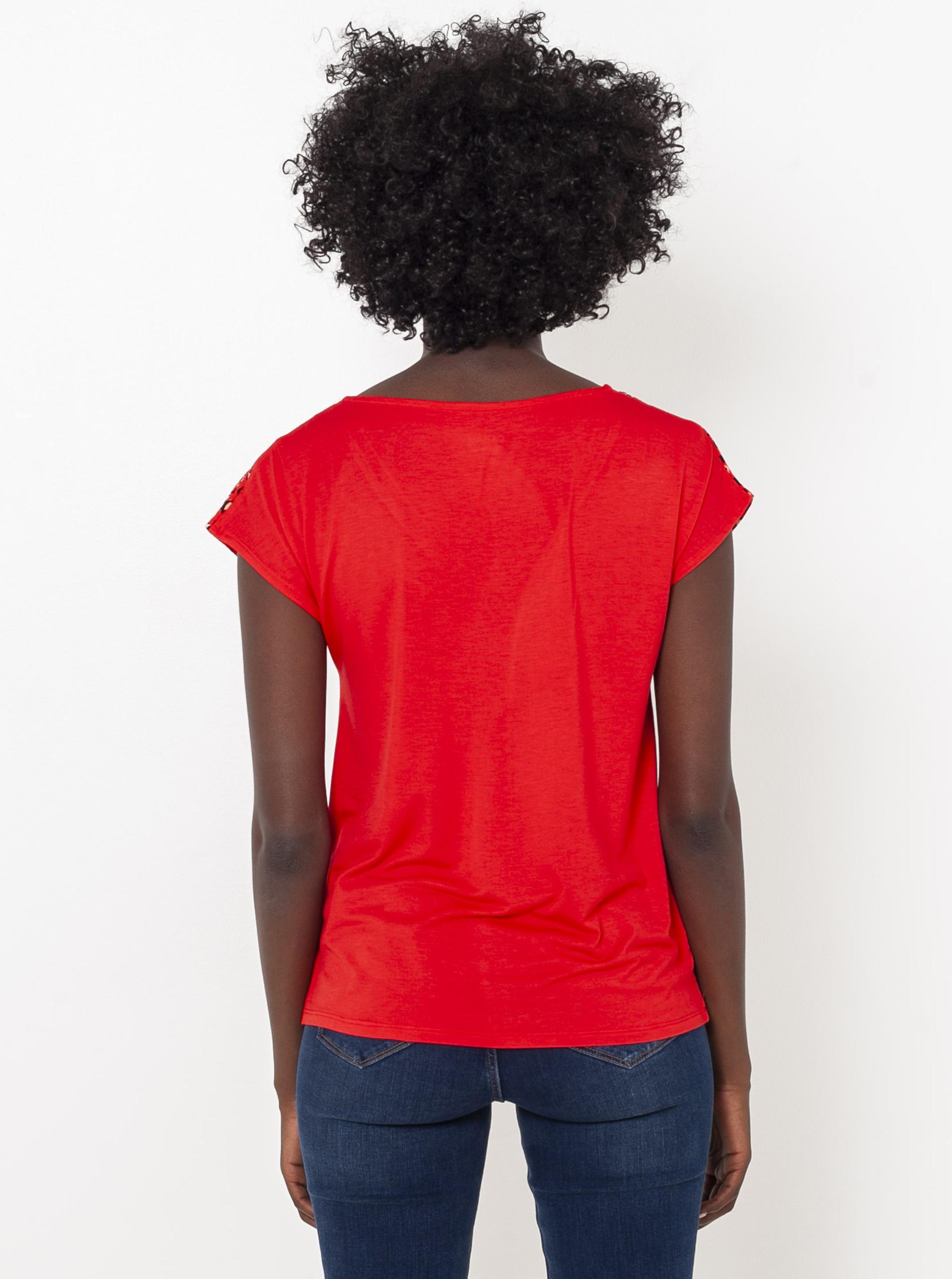 CAMAIEU червена риза с шарка
