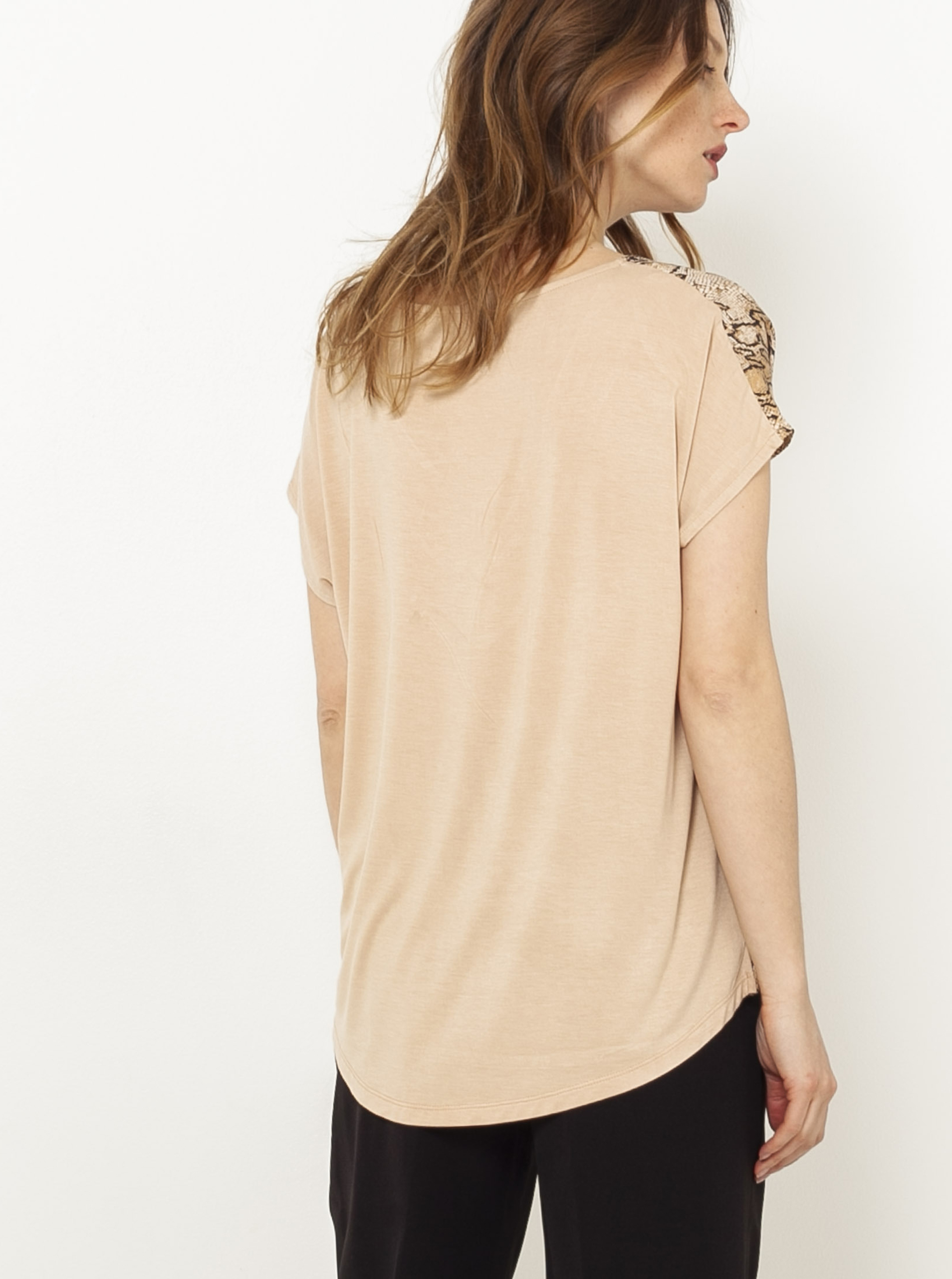 CAMAIEU бежова блуза