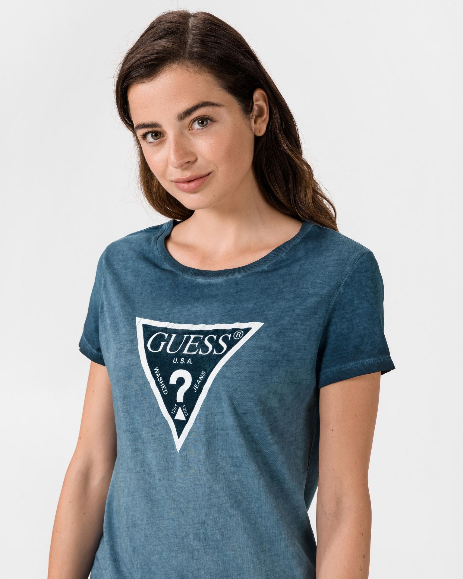 Guess Дамска тениска син цвят Triko