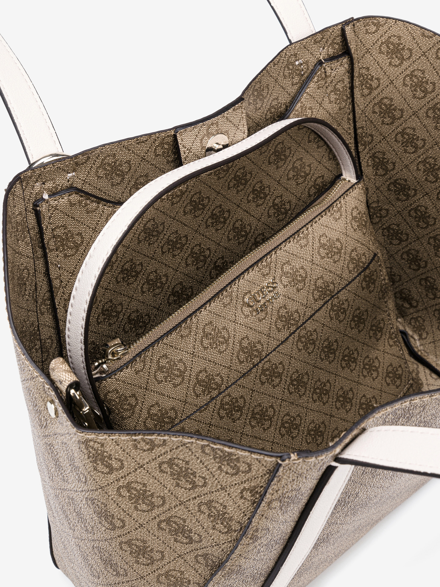 Guess кафява 2в1 дамска чанта Naya