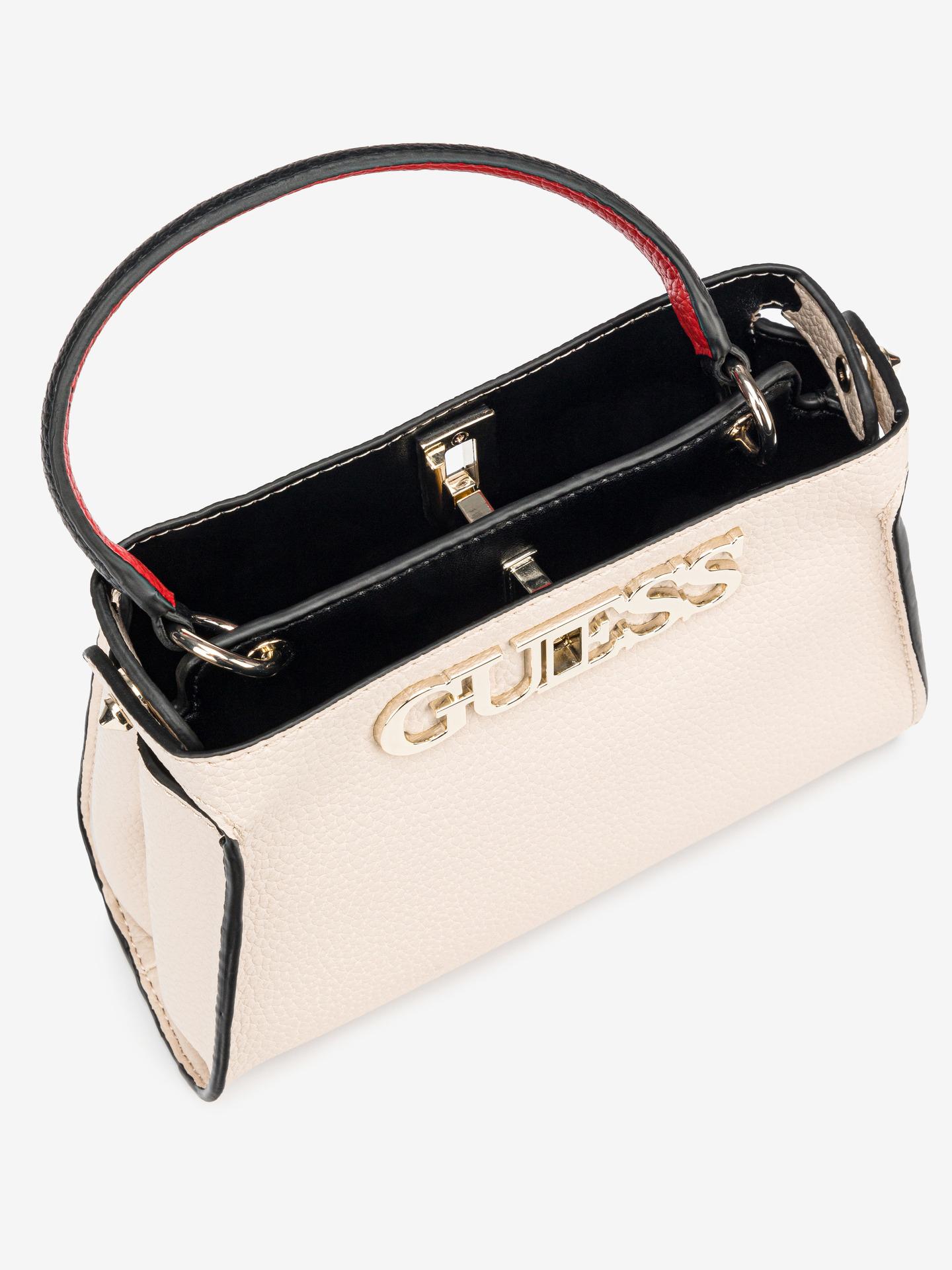 Guess бежова дамска чанта Uptown Chic Small