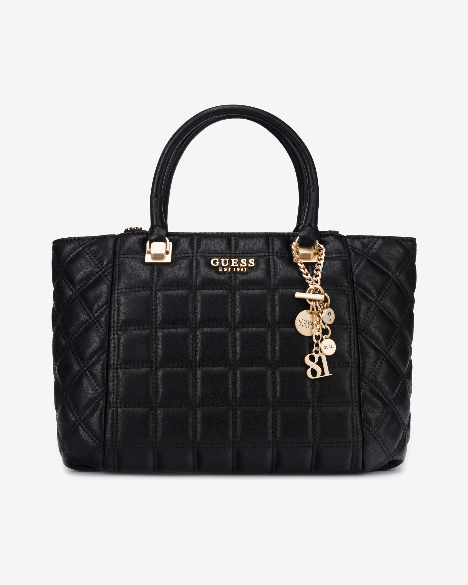 Guess черна дамска чанта Kamina Status