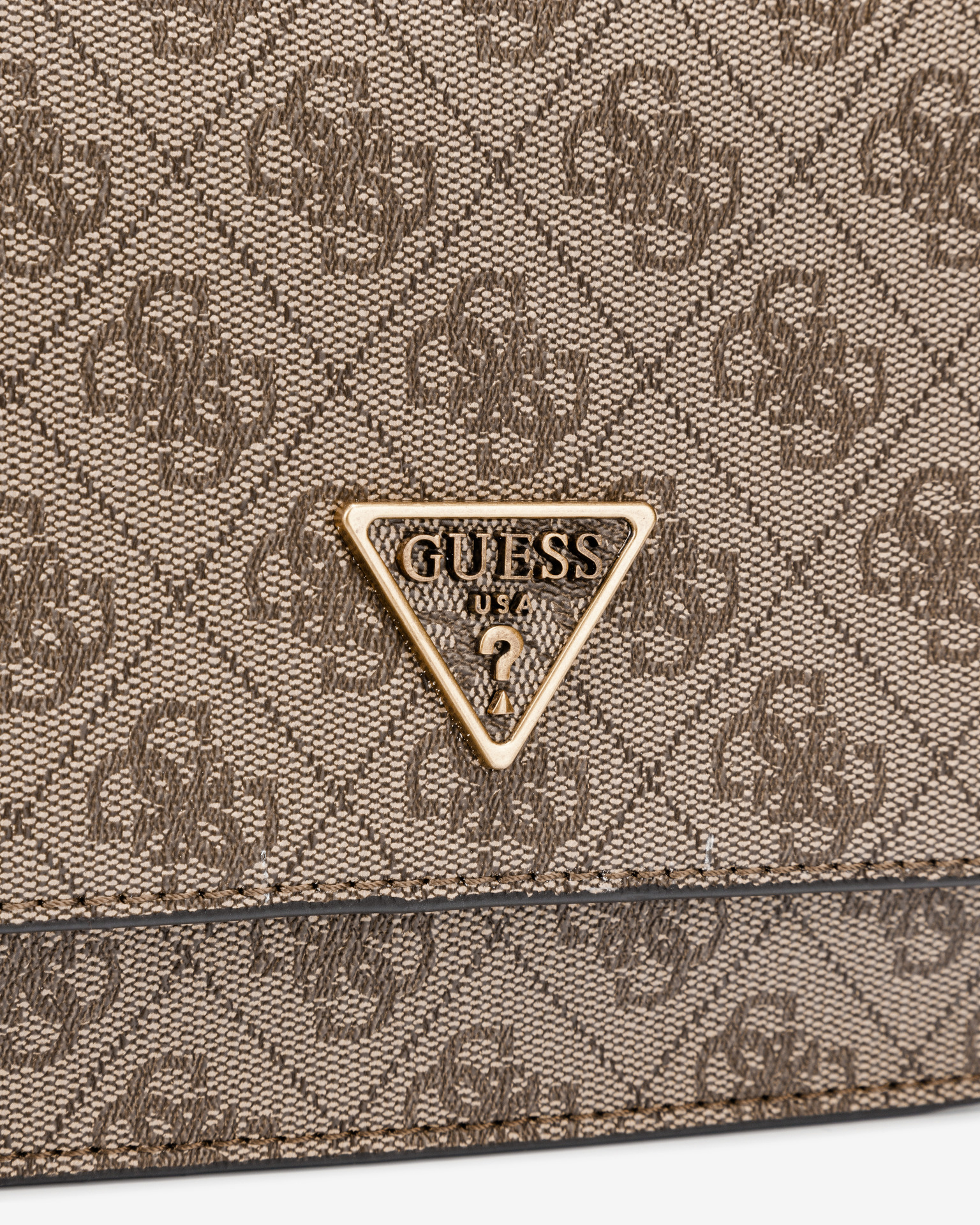 Guess кафява crossbody дамска чанта Noelle Mini