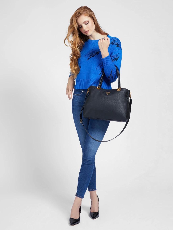Guess черна дамска чанта Destiny Society