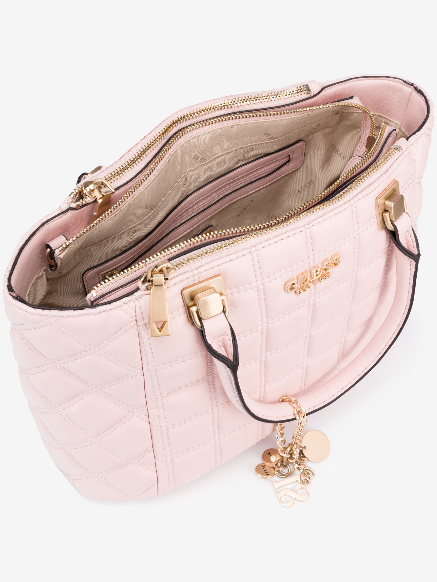 Guess розова дамска чанта Kamina Status