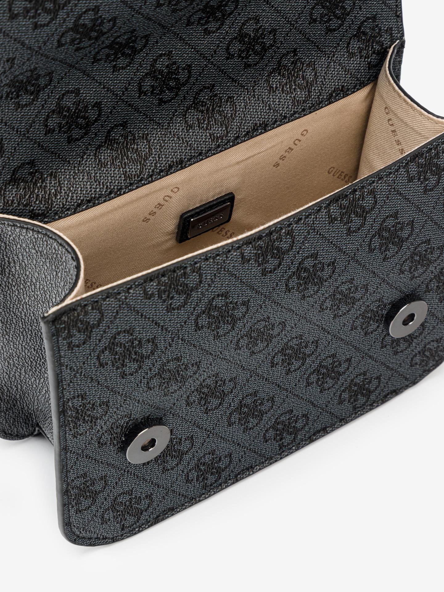 Guess сива crossbody дамска чанта Noelle Mini