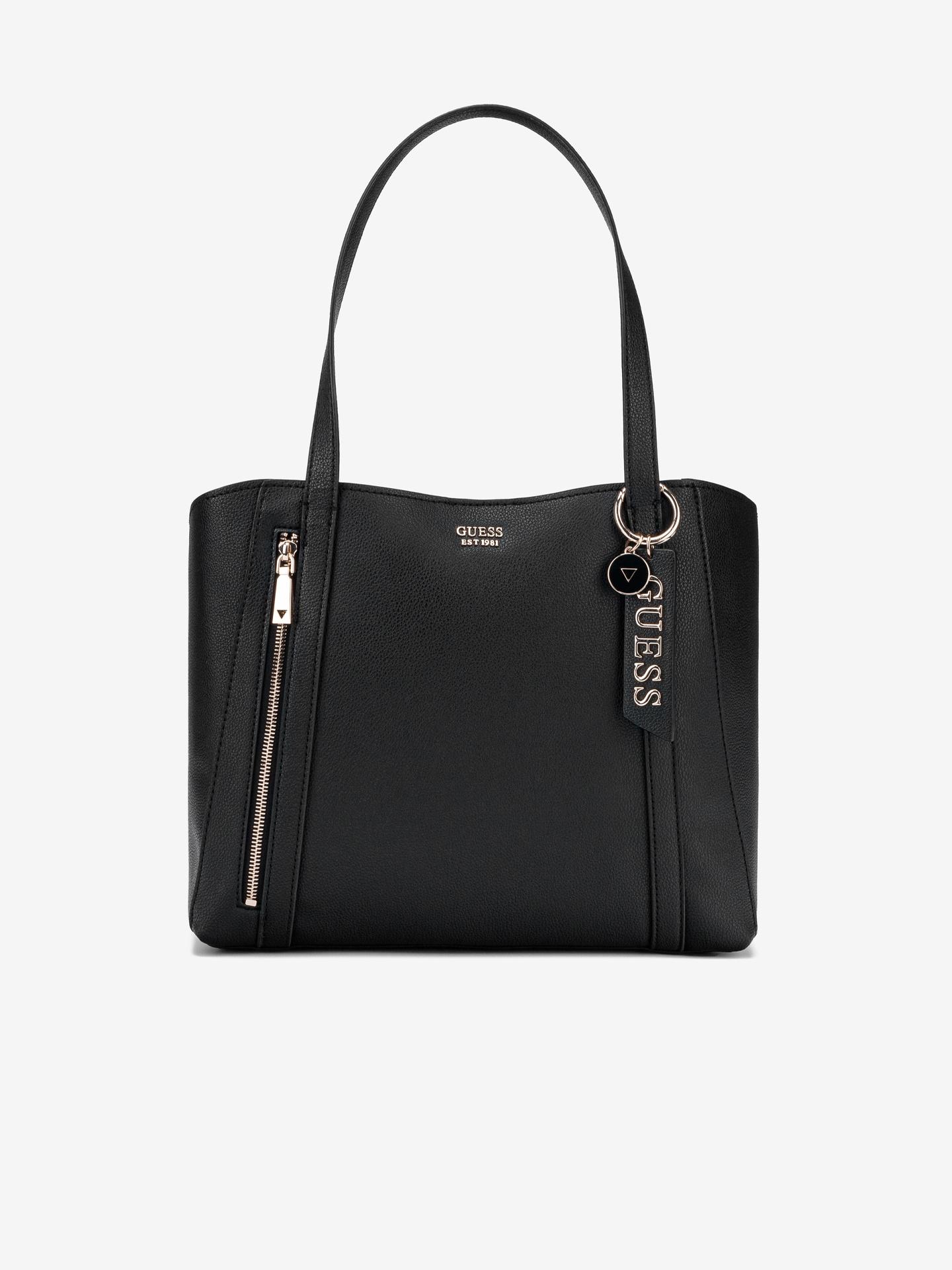 Guess черна дамска чанта Naya Front Zip