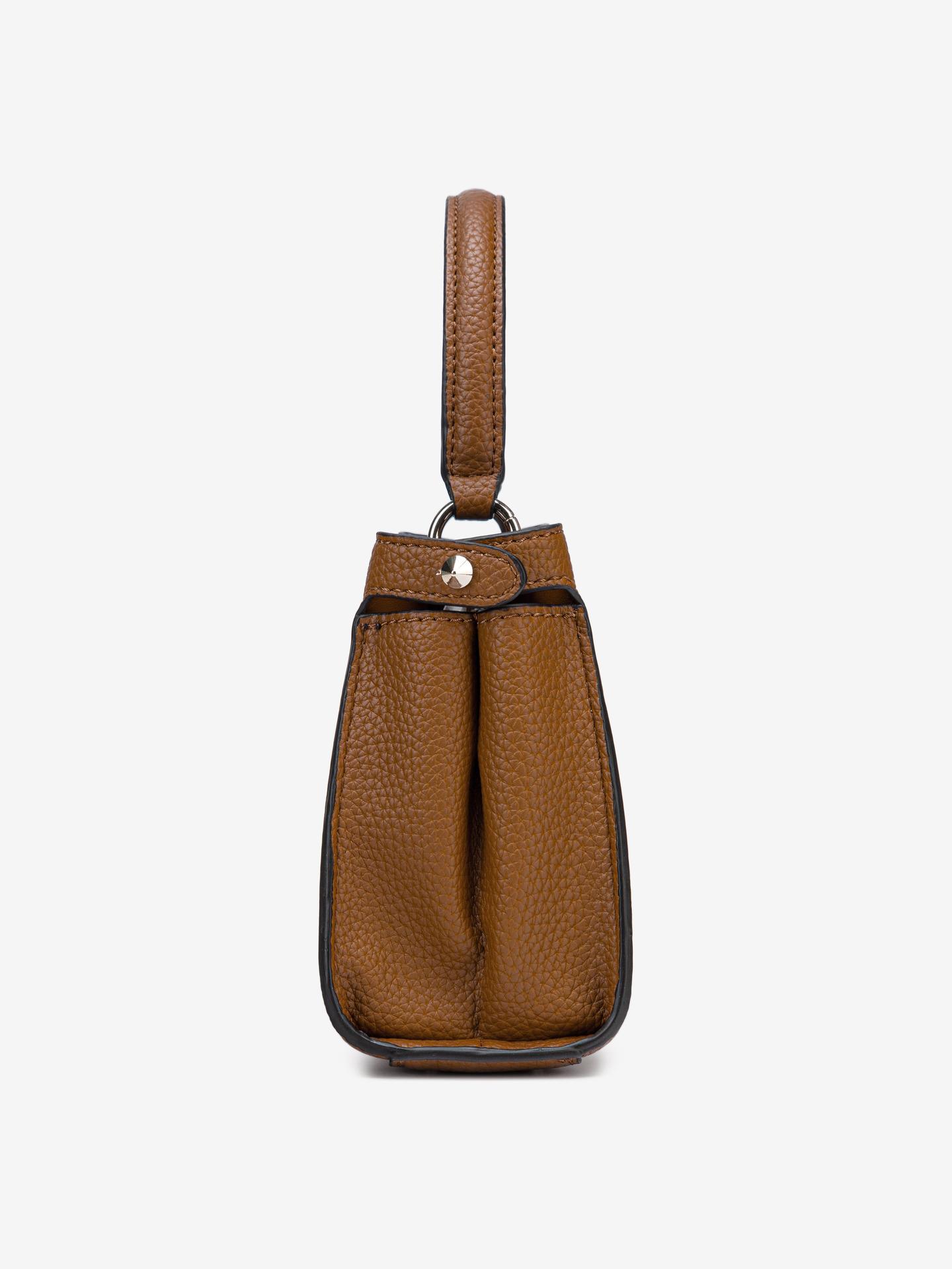 Guess кафява дамска чанта Uptown Chic Small
