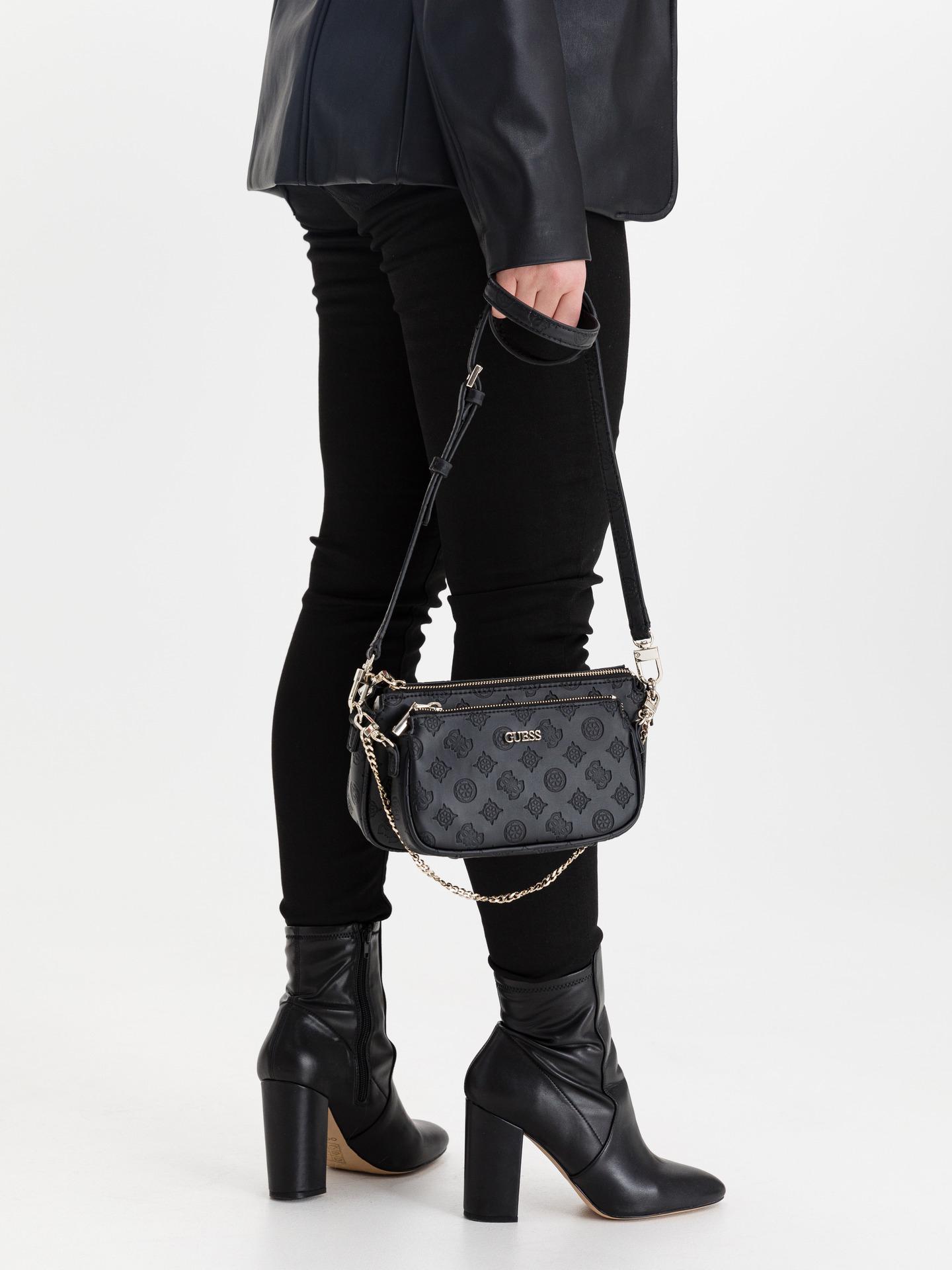 Guess черна crossbody дамска чанта Dyanne Double