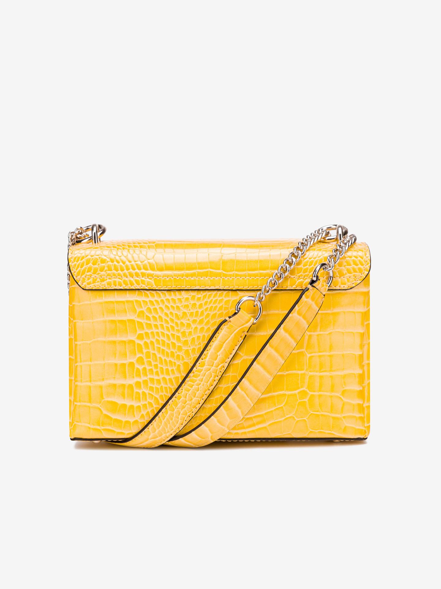 Guess жълта crossbody дамска чанта Carabel