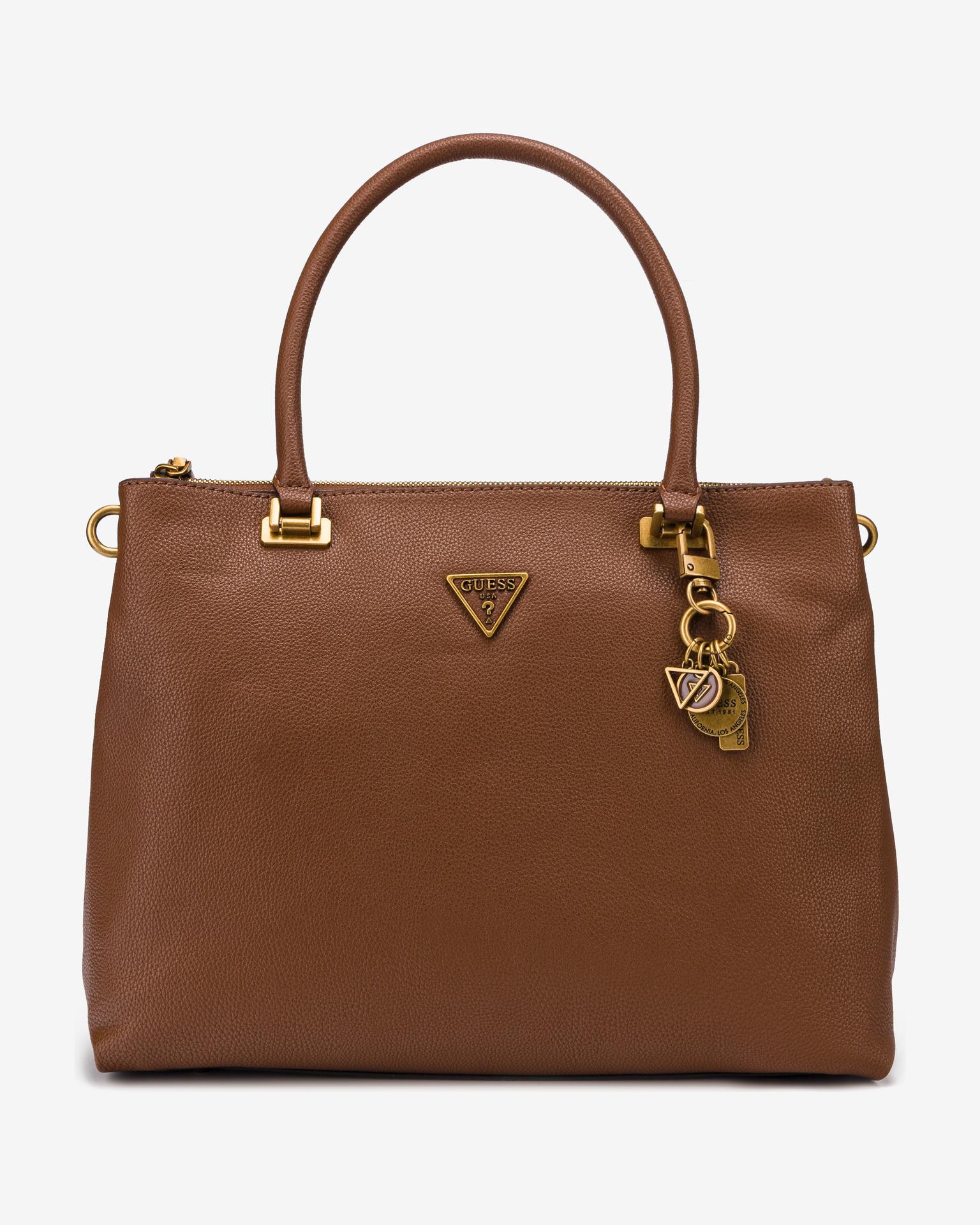 Guess кафява дамска чанта Destiny Society