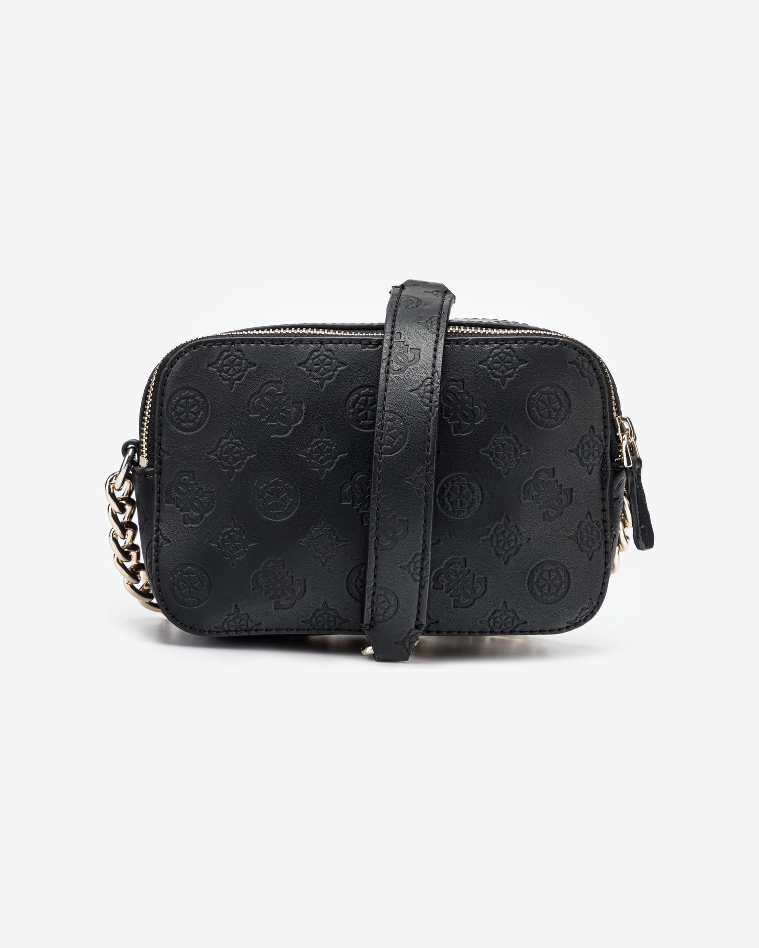 Guess черна crossbody дамска чанта Noelle