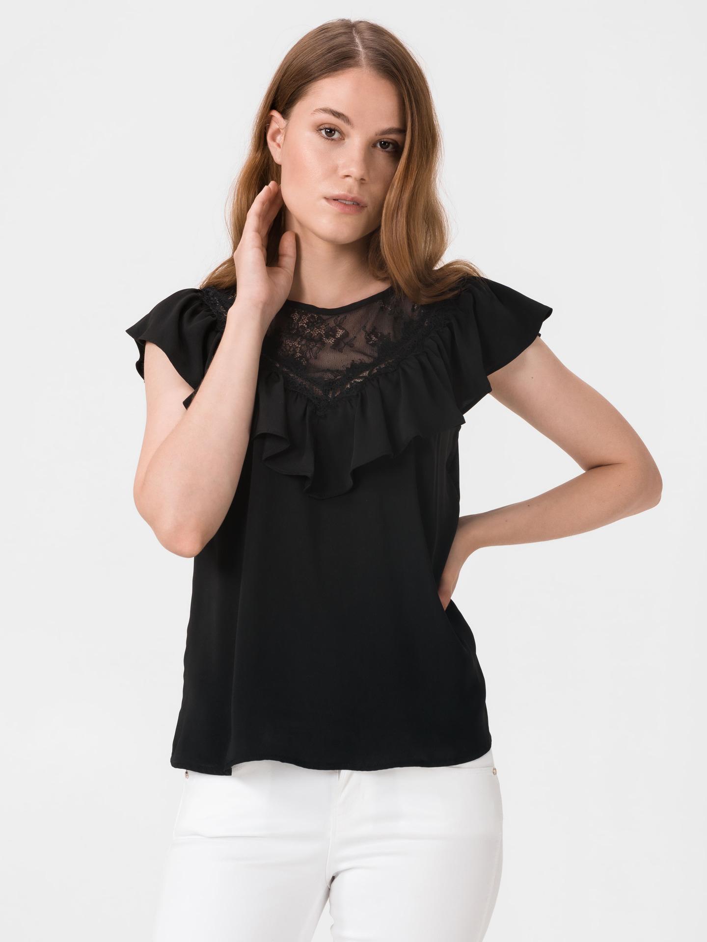 Guess черна блуза Lodovica