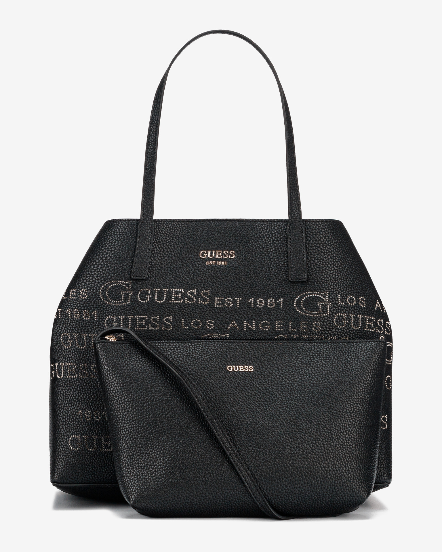 Guess черна дамска чанта Vikky Large