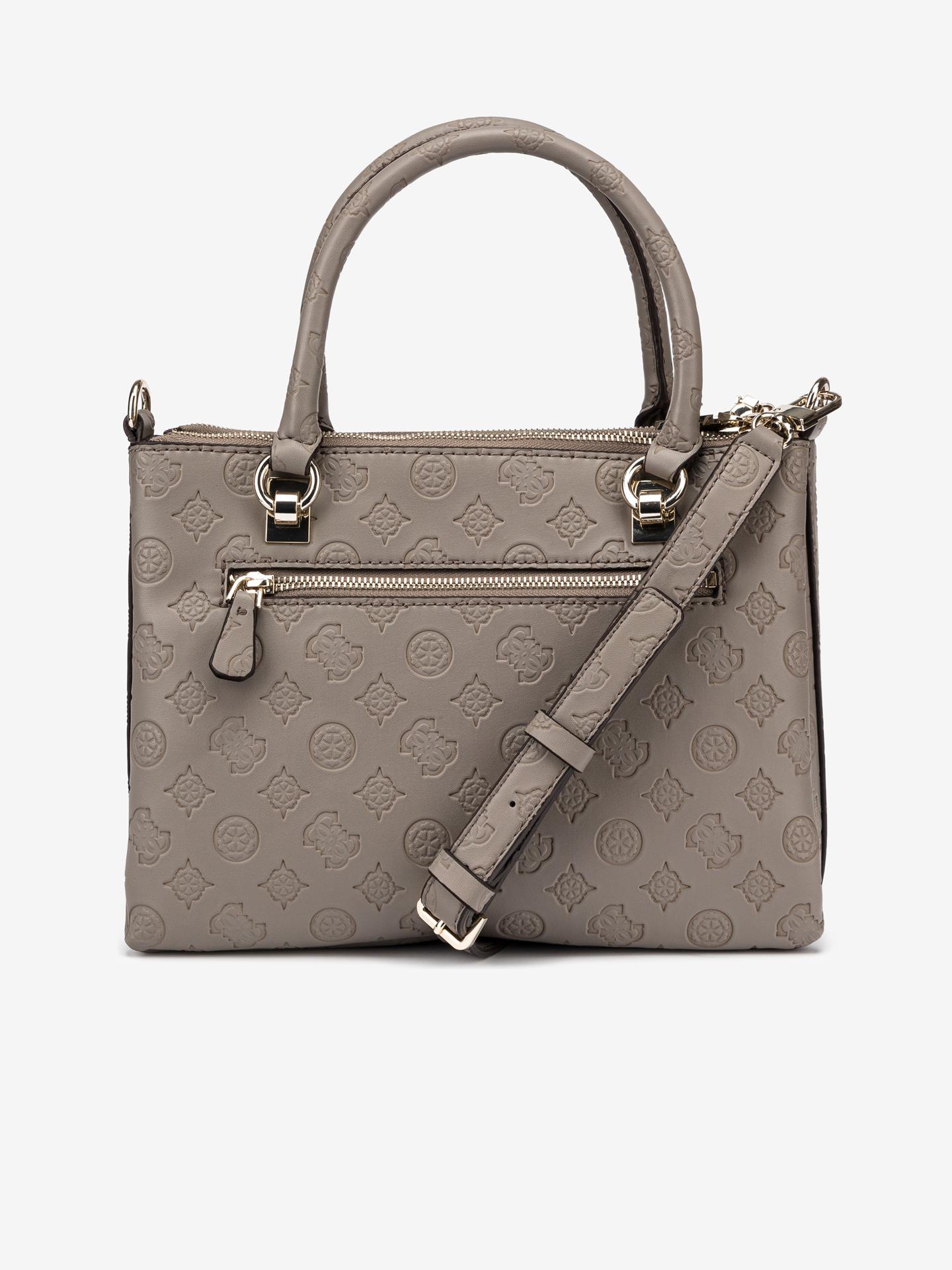 Guess кафява дамска чанта Ninnette Status