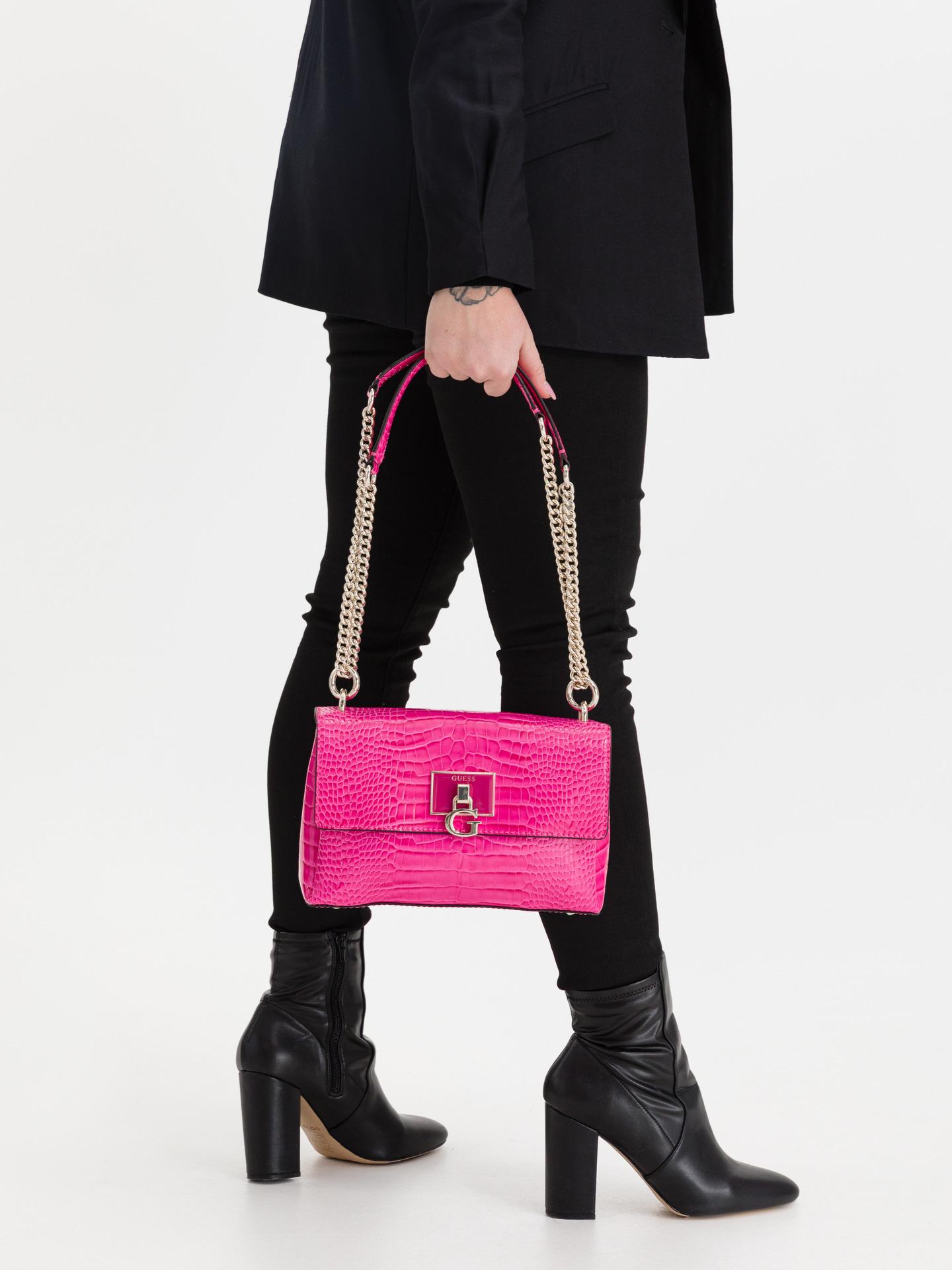 Guess розова crossbody дамска чанта Carabel