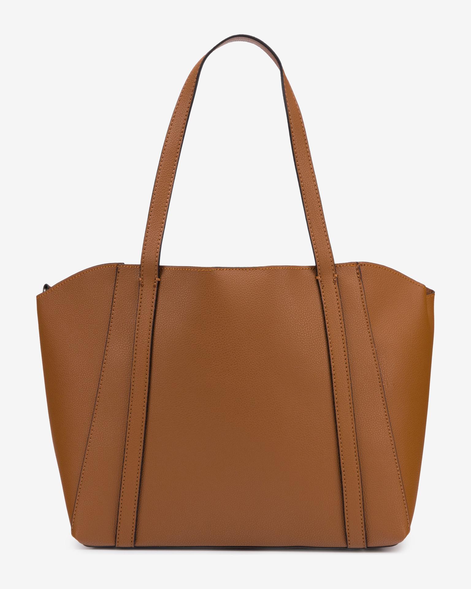 Guess кафява 2в1 дамска чанта Naya Front Zip