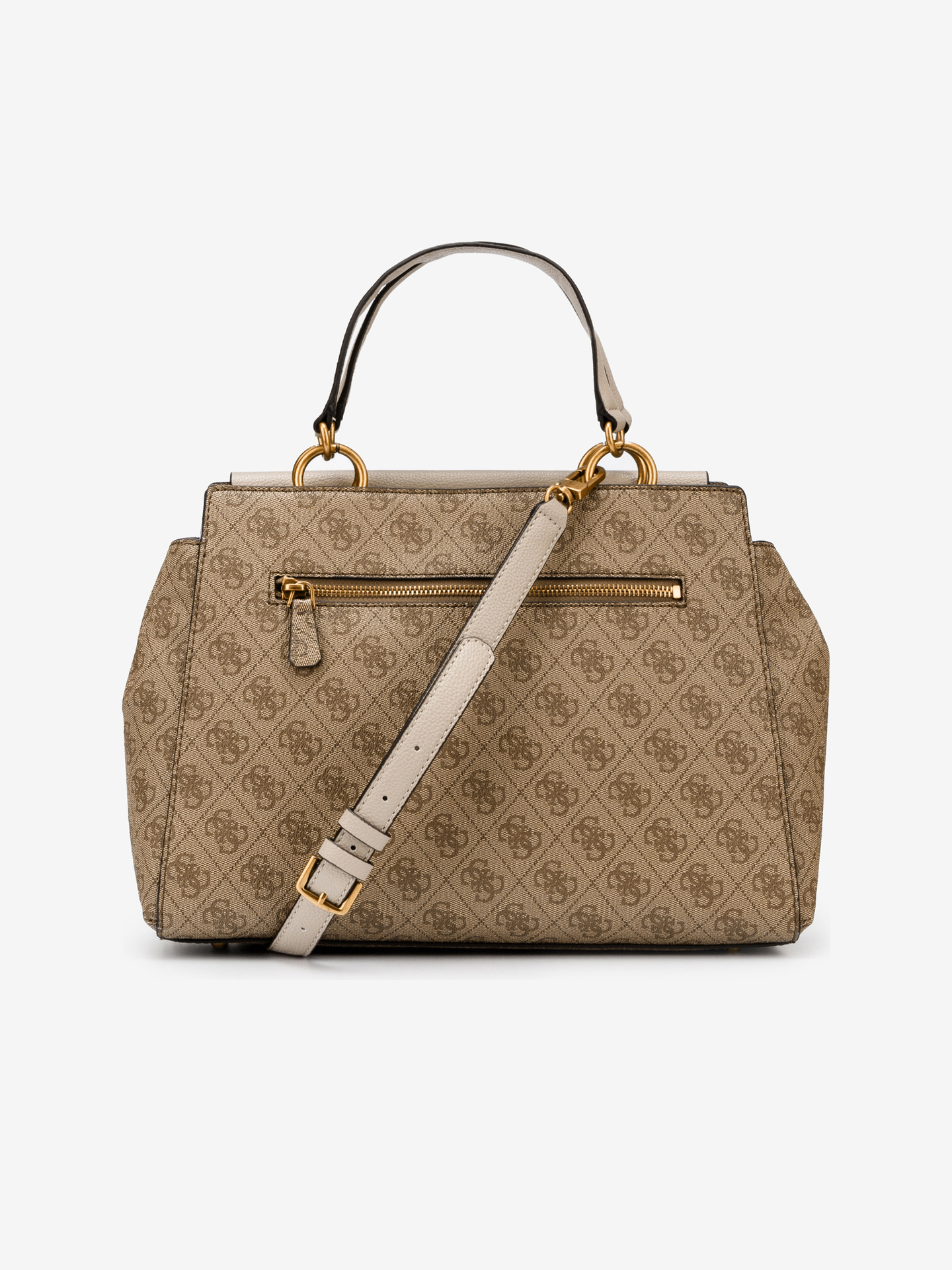 Guess кафява дамска чанта Valy Large