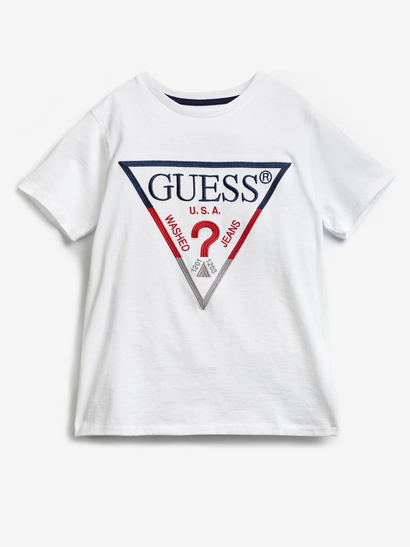 Guess Embroidery Front Logo Тениска детски Byal