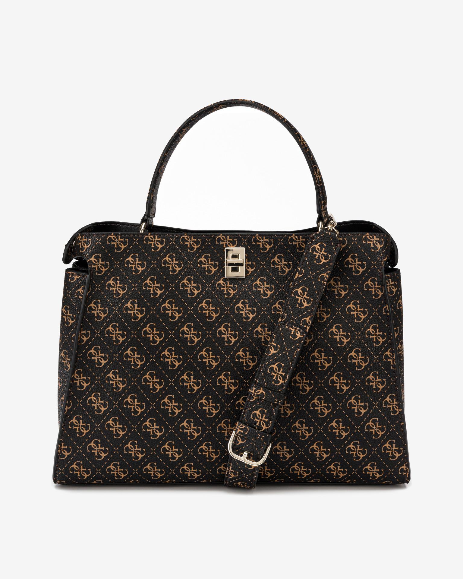 Guess кафява дамска чанта Uptown Chic Large