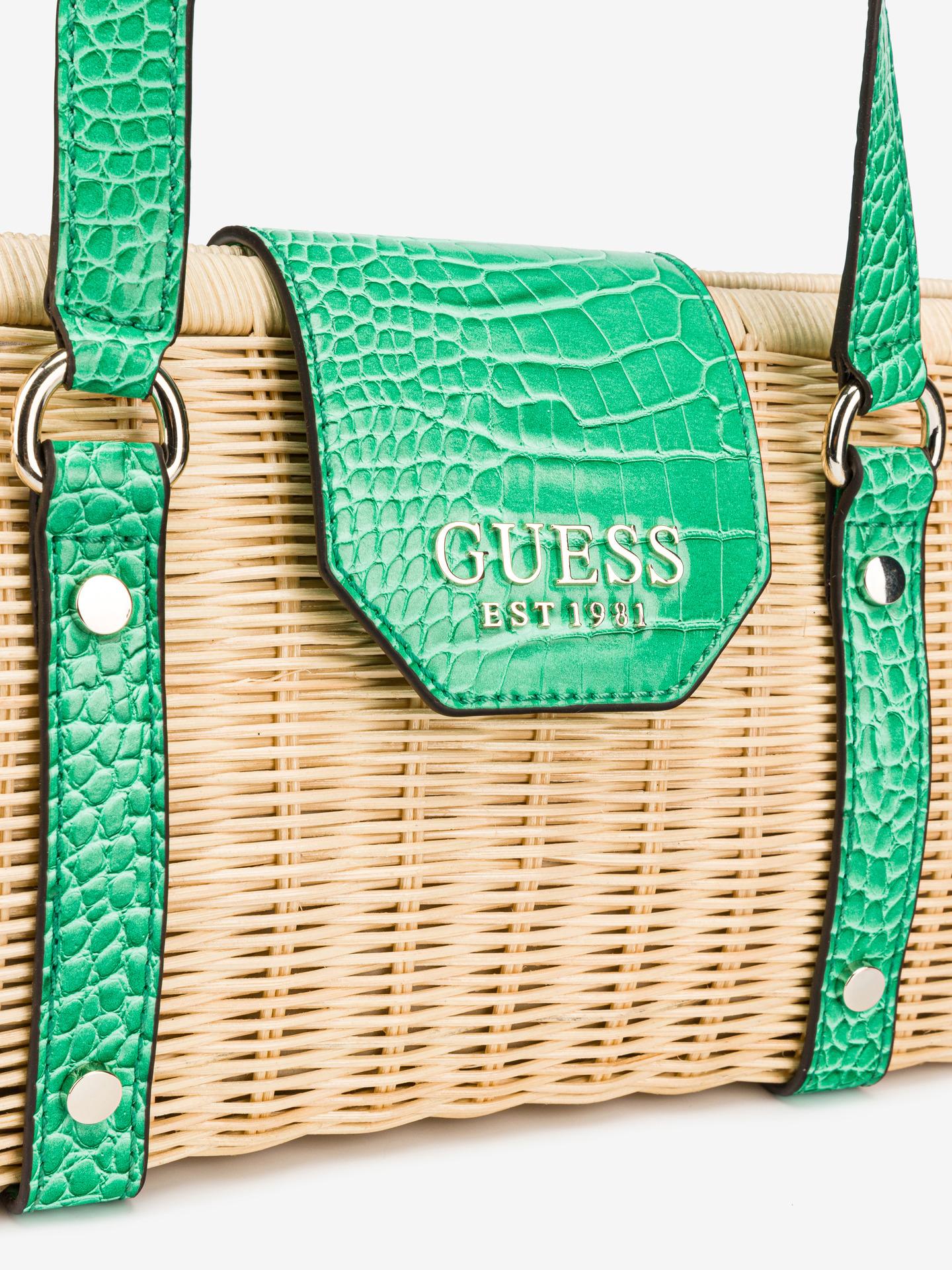 Guess зелена дамска чанта Paloma
