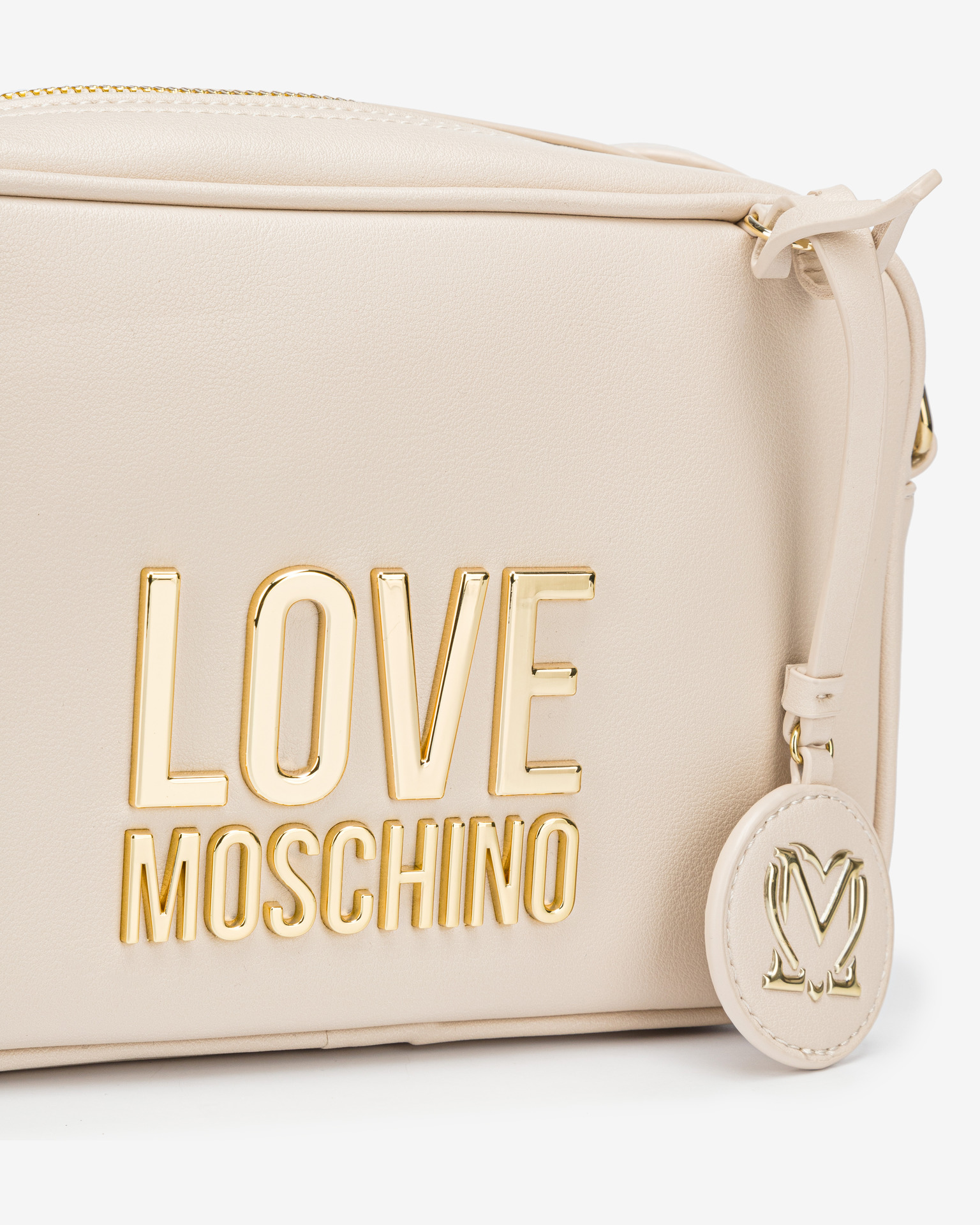 Love Moschino бяла crossbody дамска чанта
