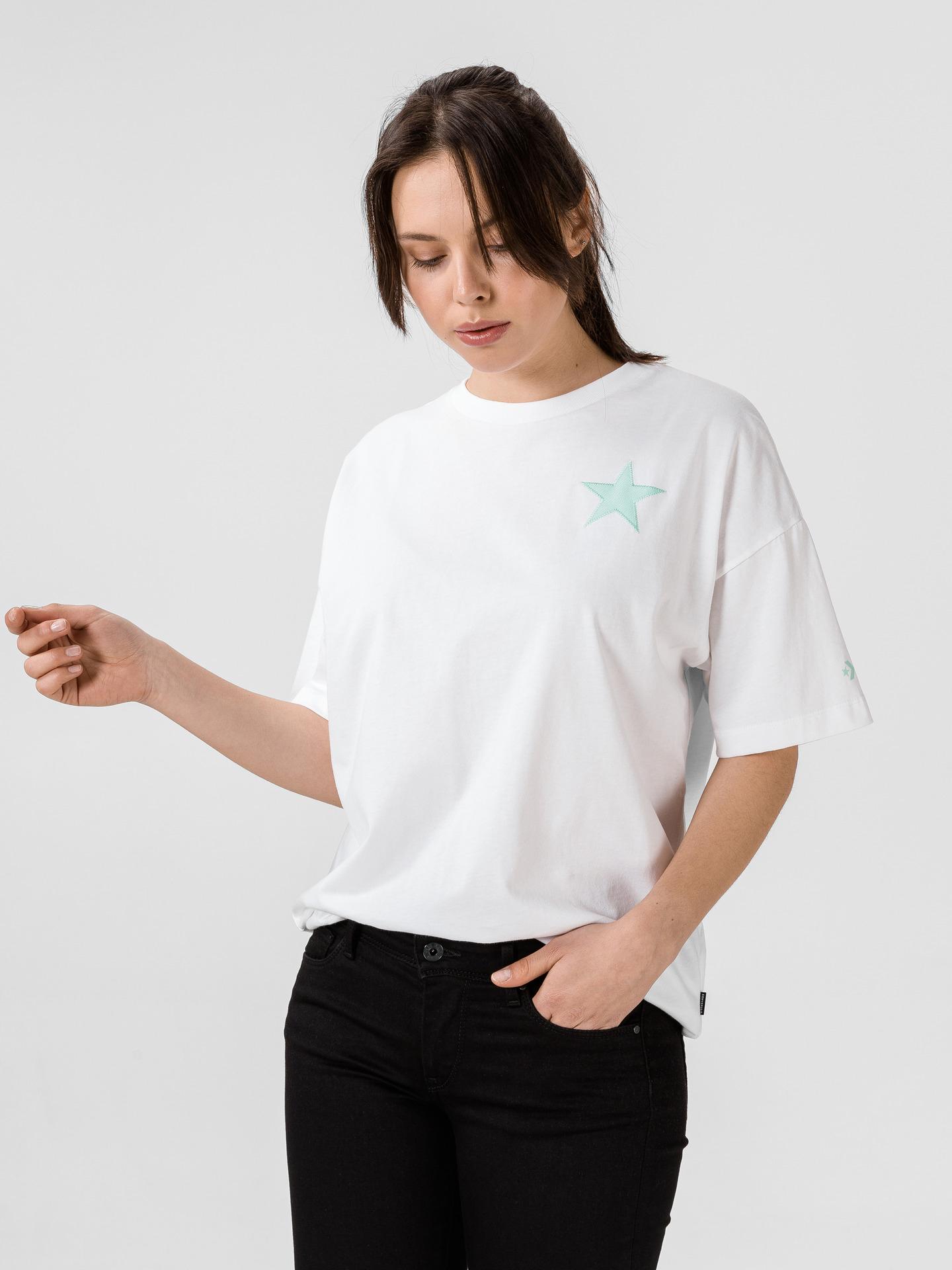 Converse бяла женски риза Twisted Varsity