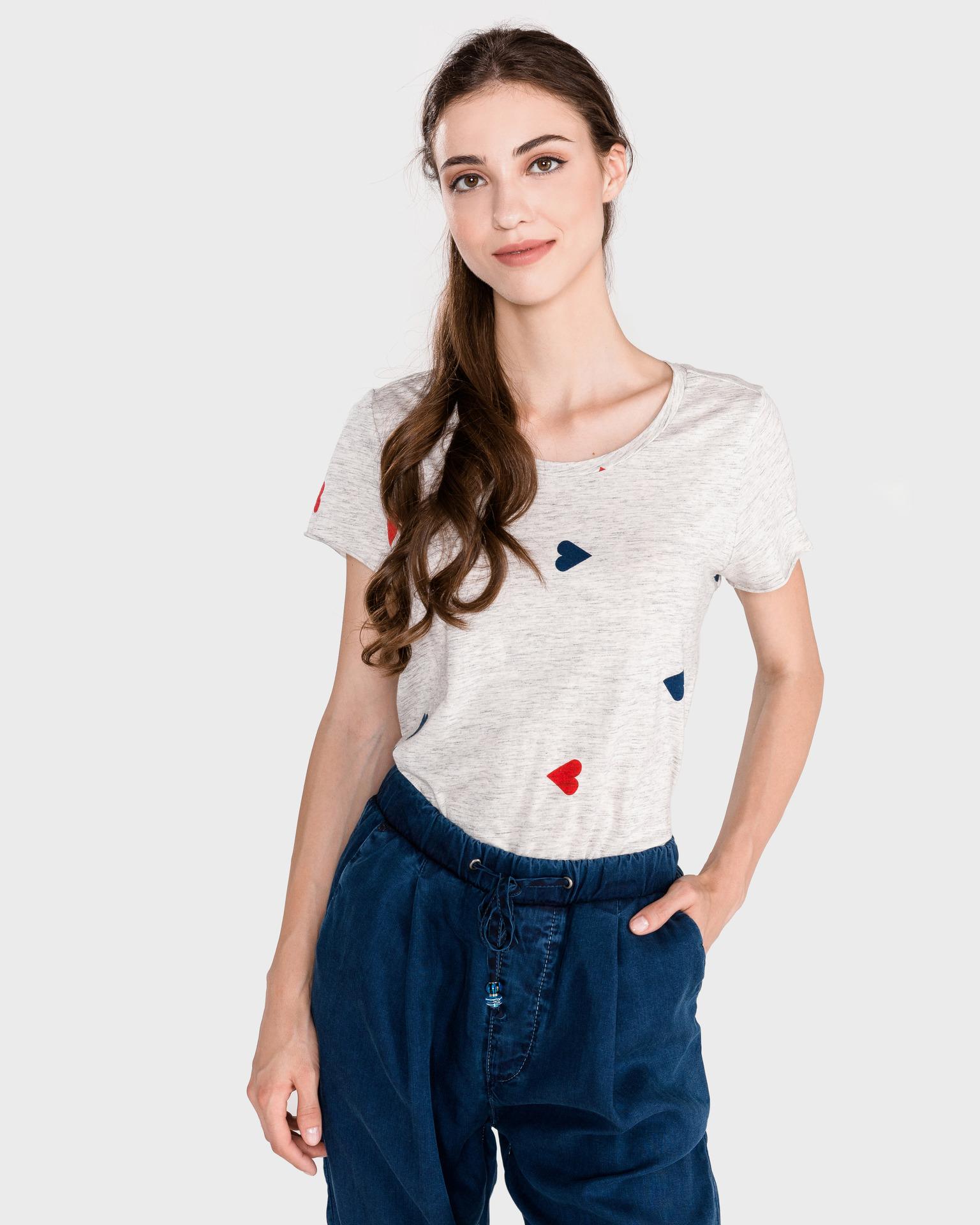 Scotch & Soda Дамска тениска бял