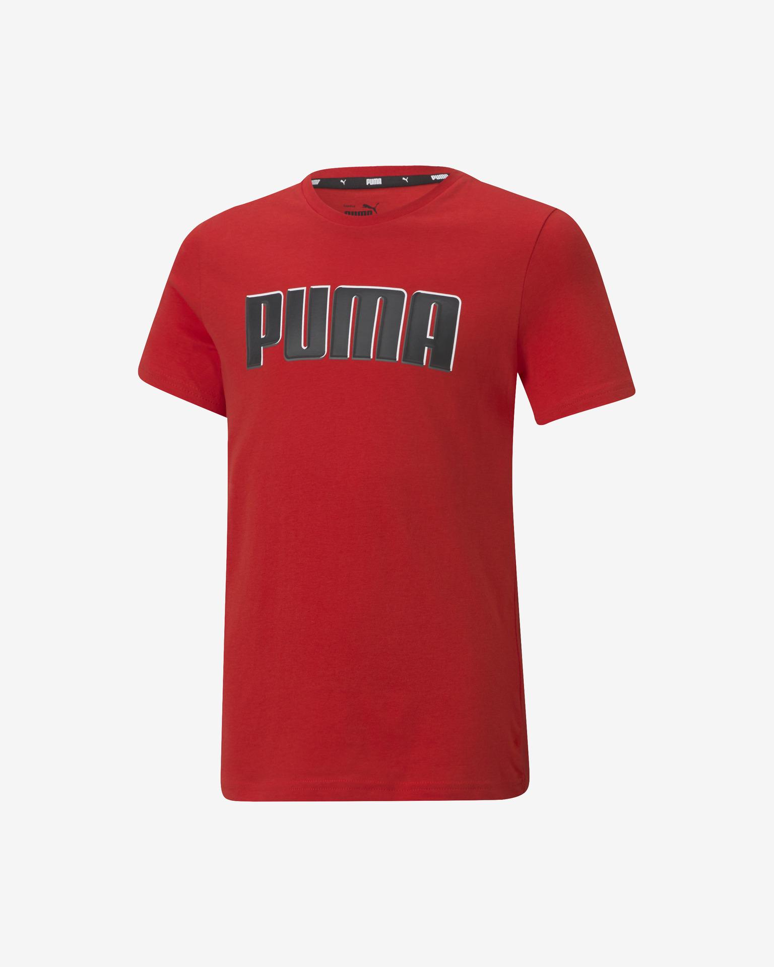 Puma Alpha Graphic Тениска детски Cherven