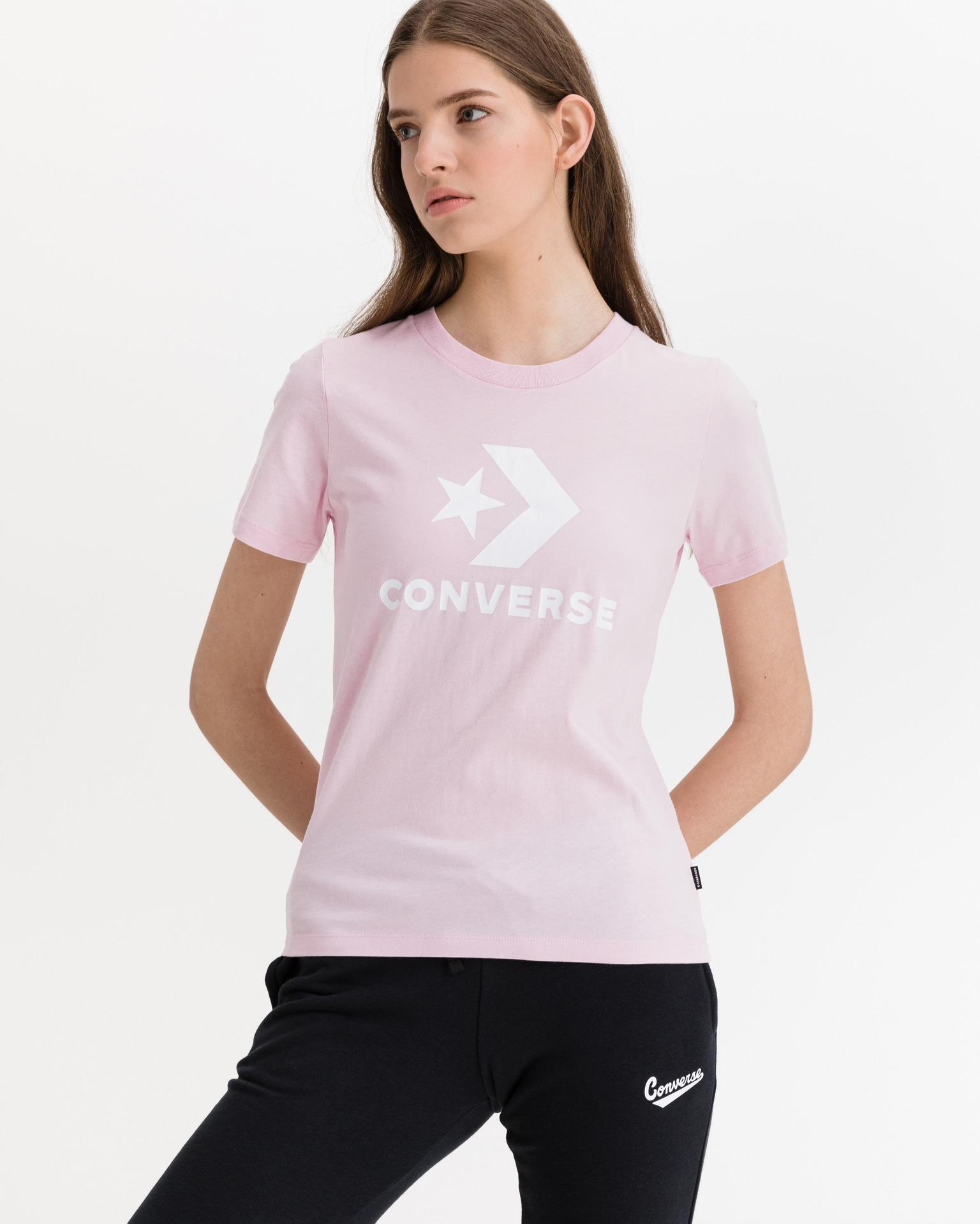Converse розова женски риза Star Chevron Center Front