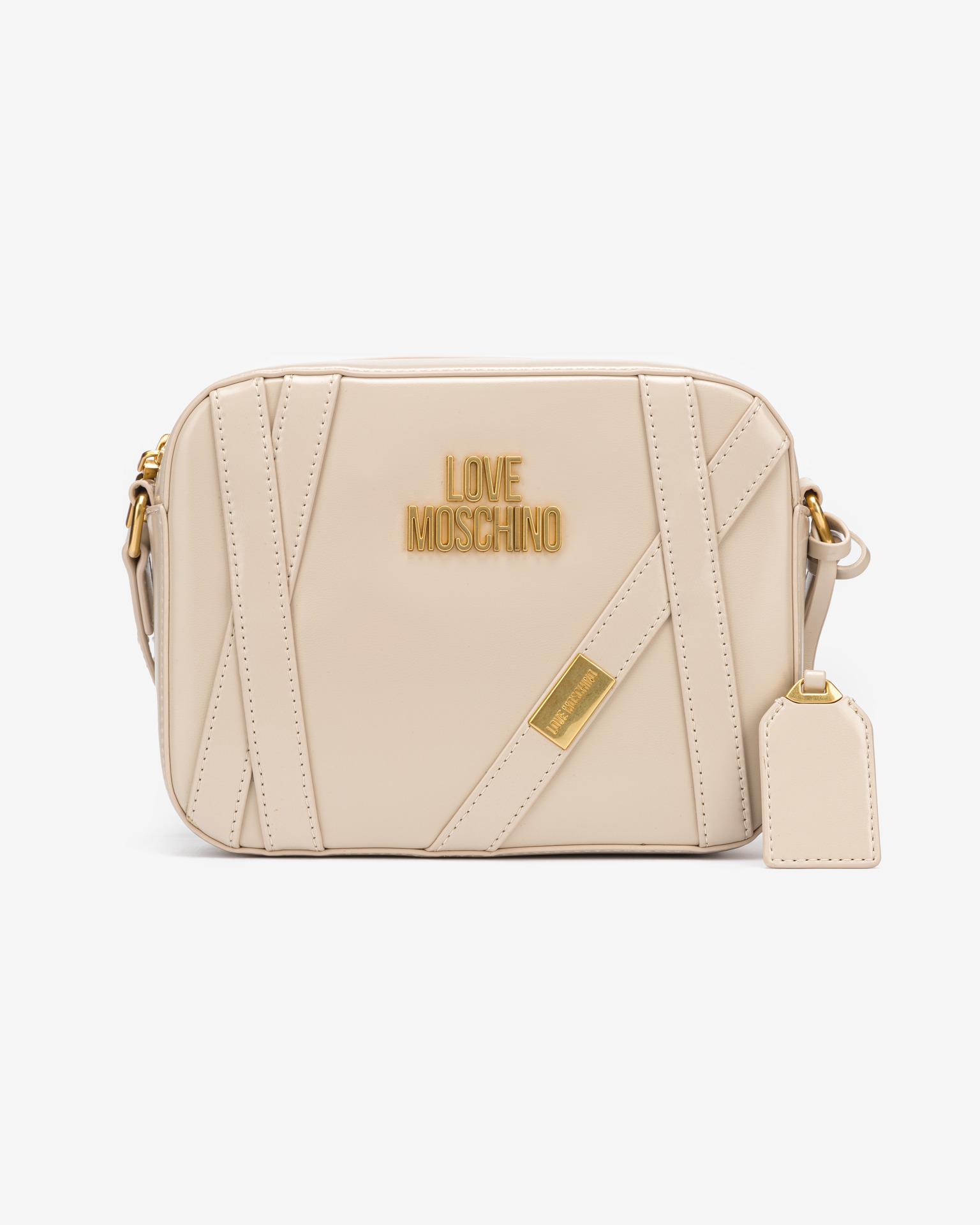 Love Moschino бежова crossbody дамска чанта