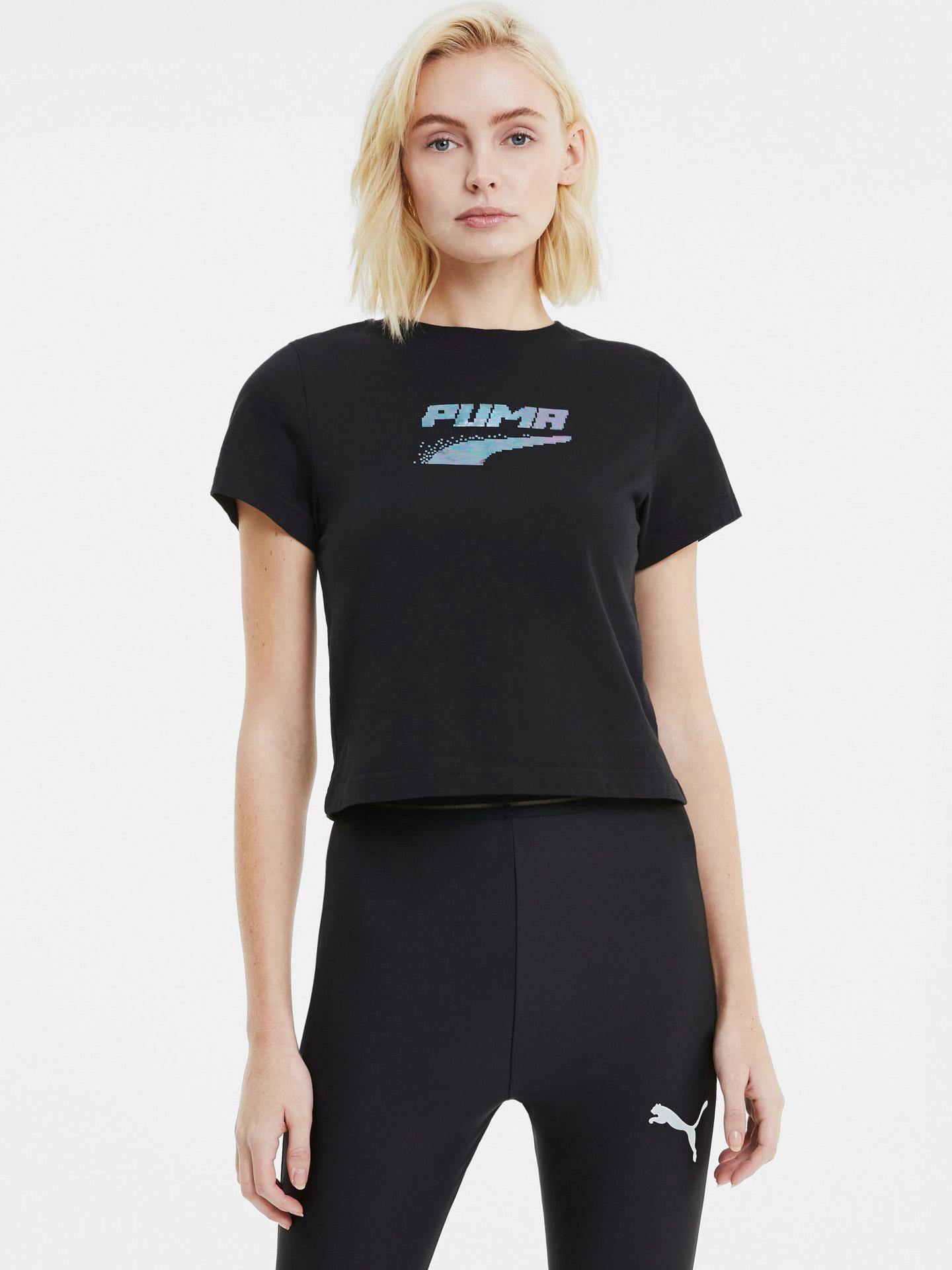 Puma черна женски риза Evide Graphic