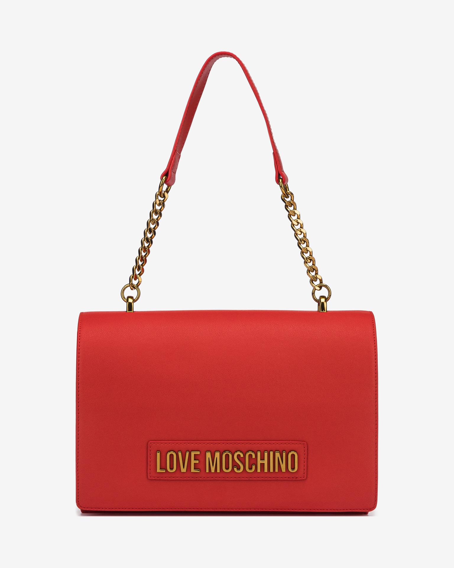 Love Moschino червена дамска чанта