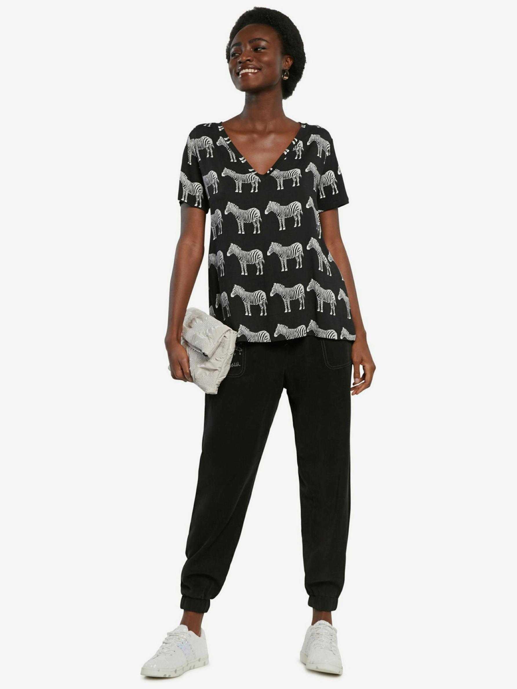 Desigual черна риза Bokan