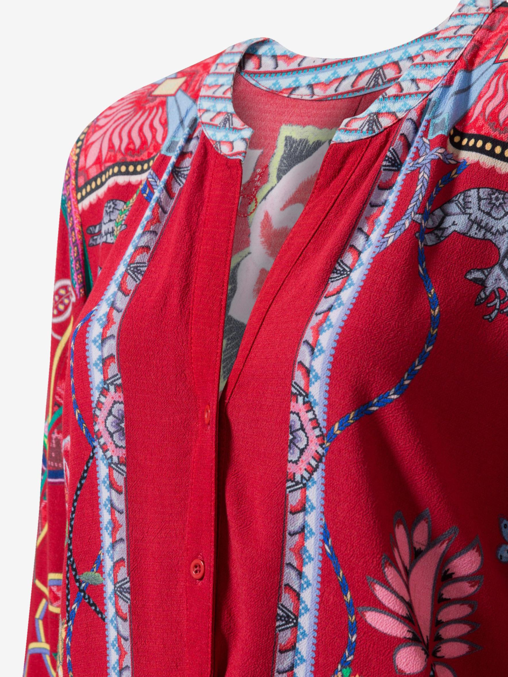 Desigual червена блуза Silvina