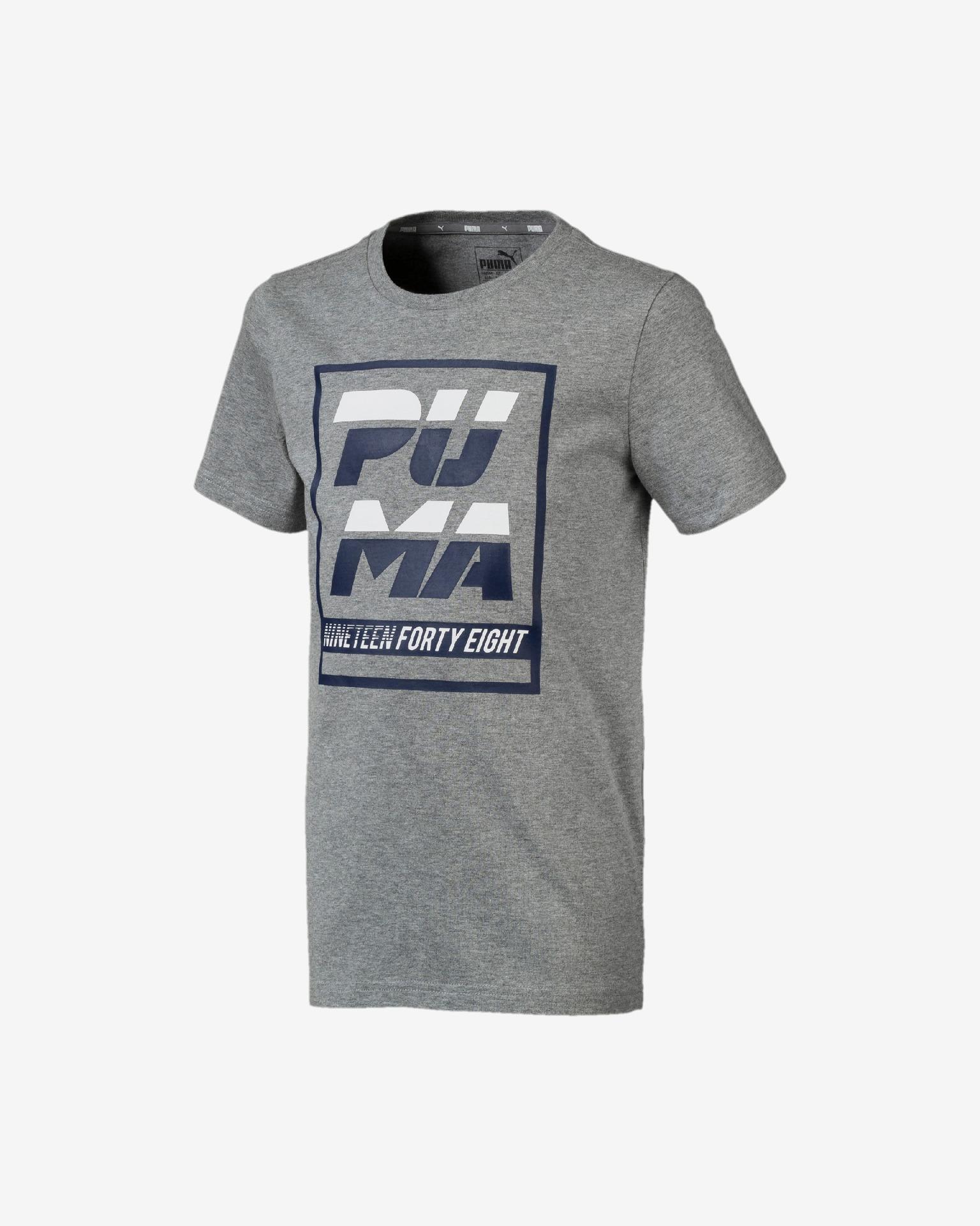 Puma Alpha Graphic Тениска детски Siv