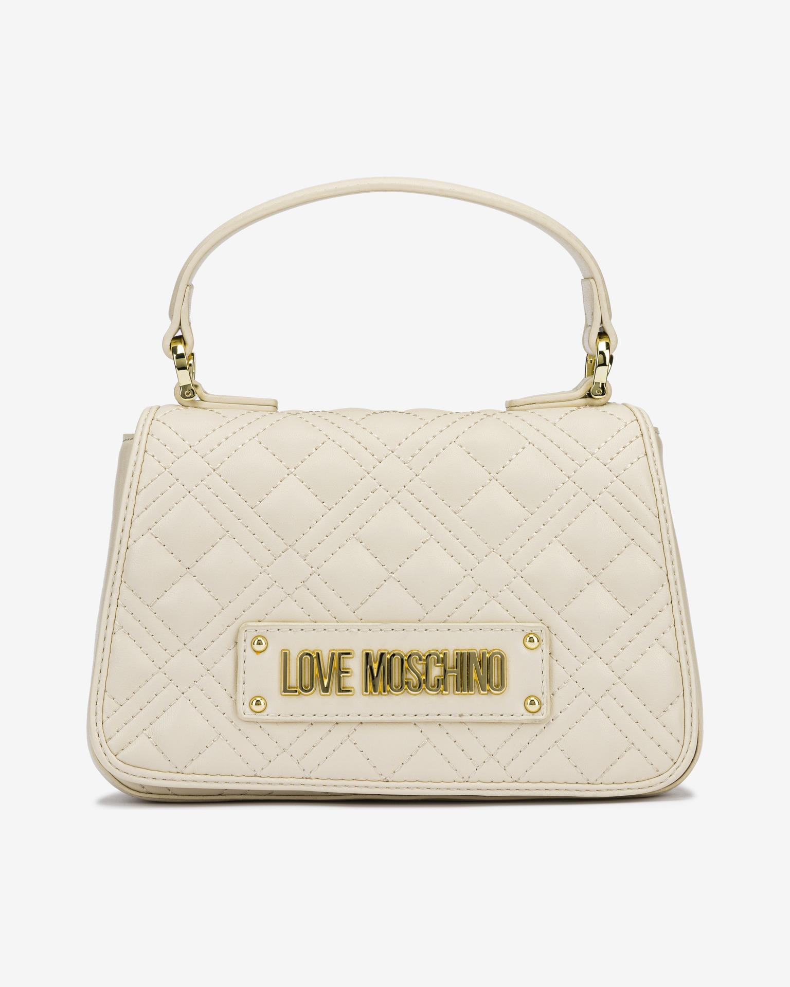 Love Moschino бежова дамска чанта
